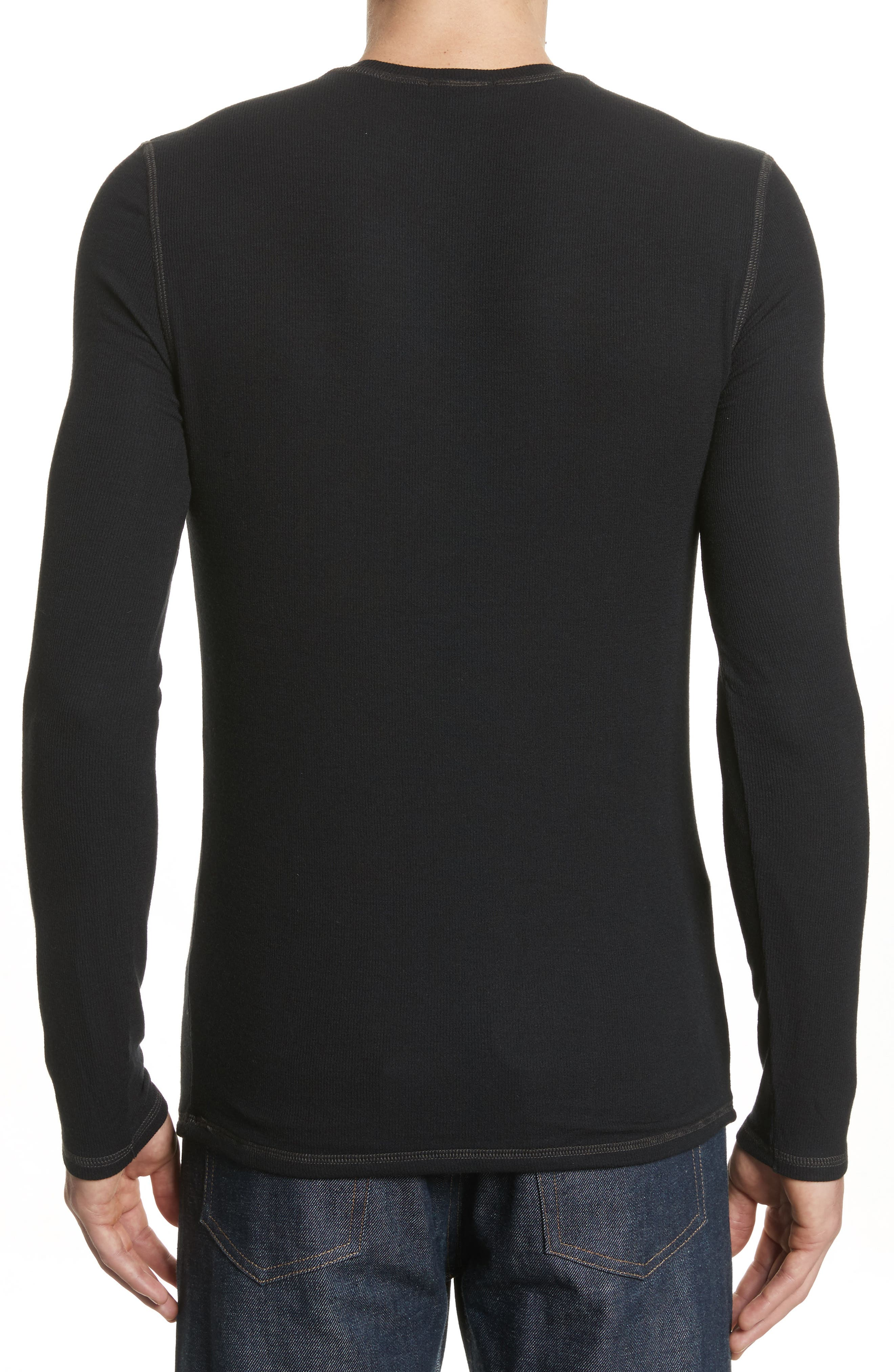 Rib Modal Crewneck Sweater,                             Alternate thumbnail 3, color,