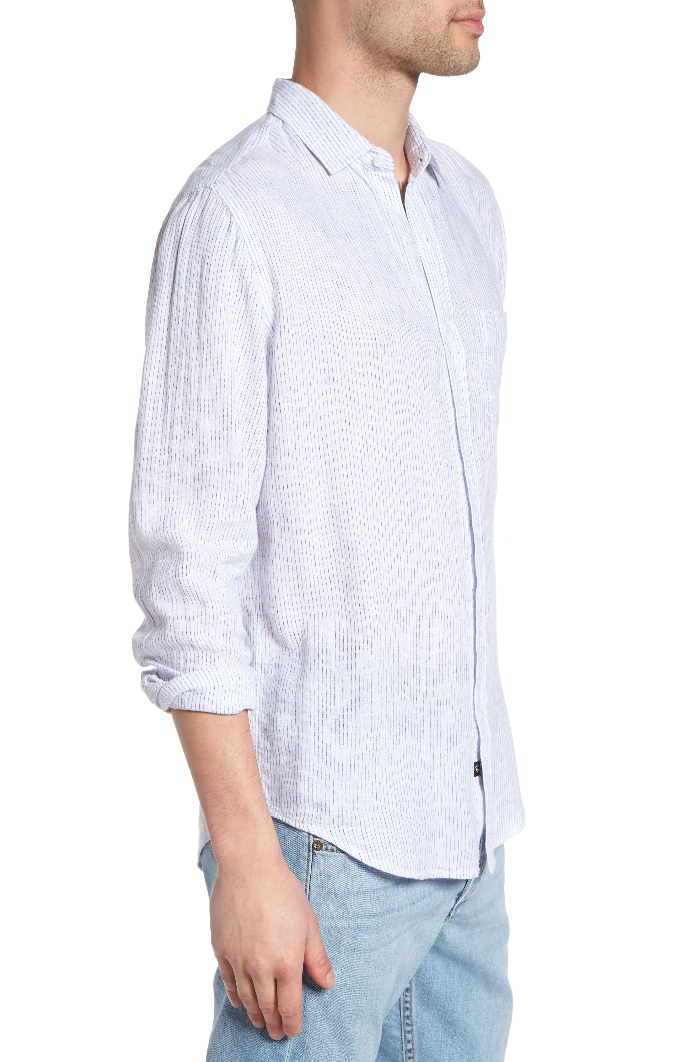Connor Linen & Rayon Shirt,                             Alternate thumbnail 9, color,