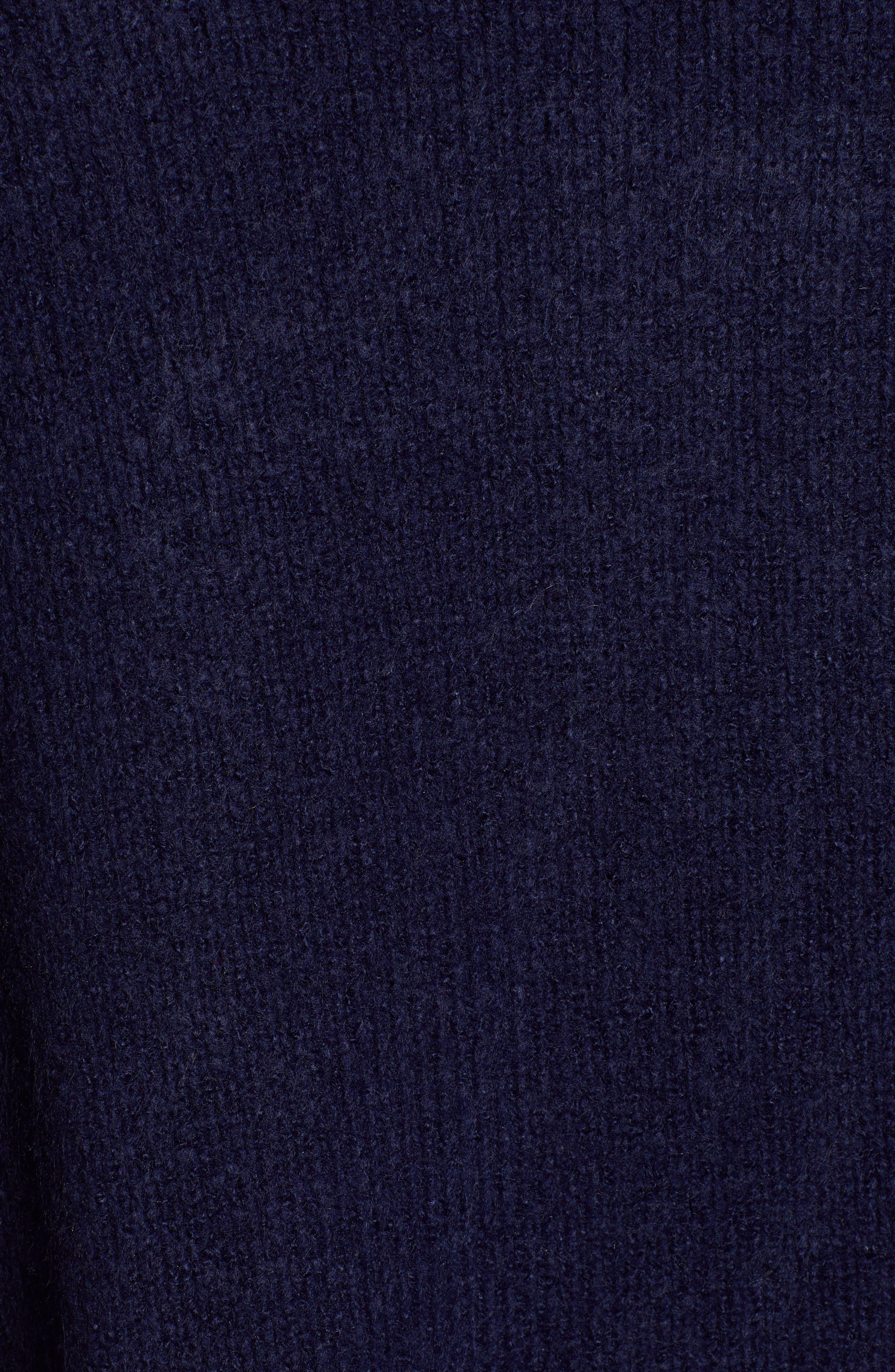 Knit Sweater Coat,                             Alternate thumbnail 5, color,                             NAVY MARITIME
