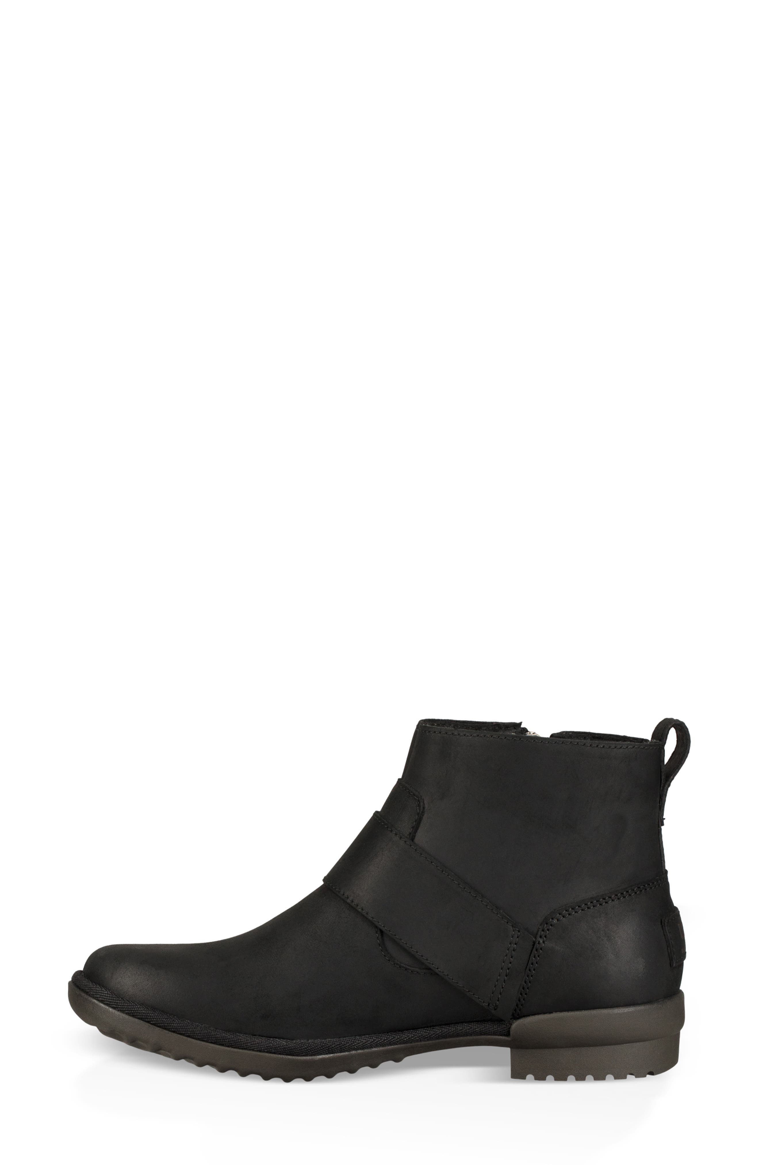 Cheyne Bootie,                             Alternate thumbnail 6, color,                             BLACK LEATHER