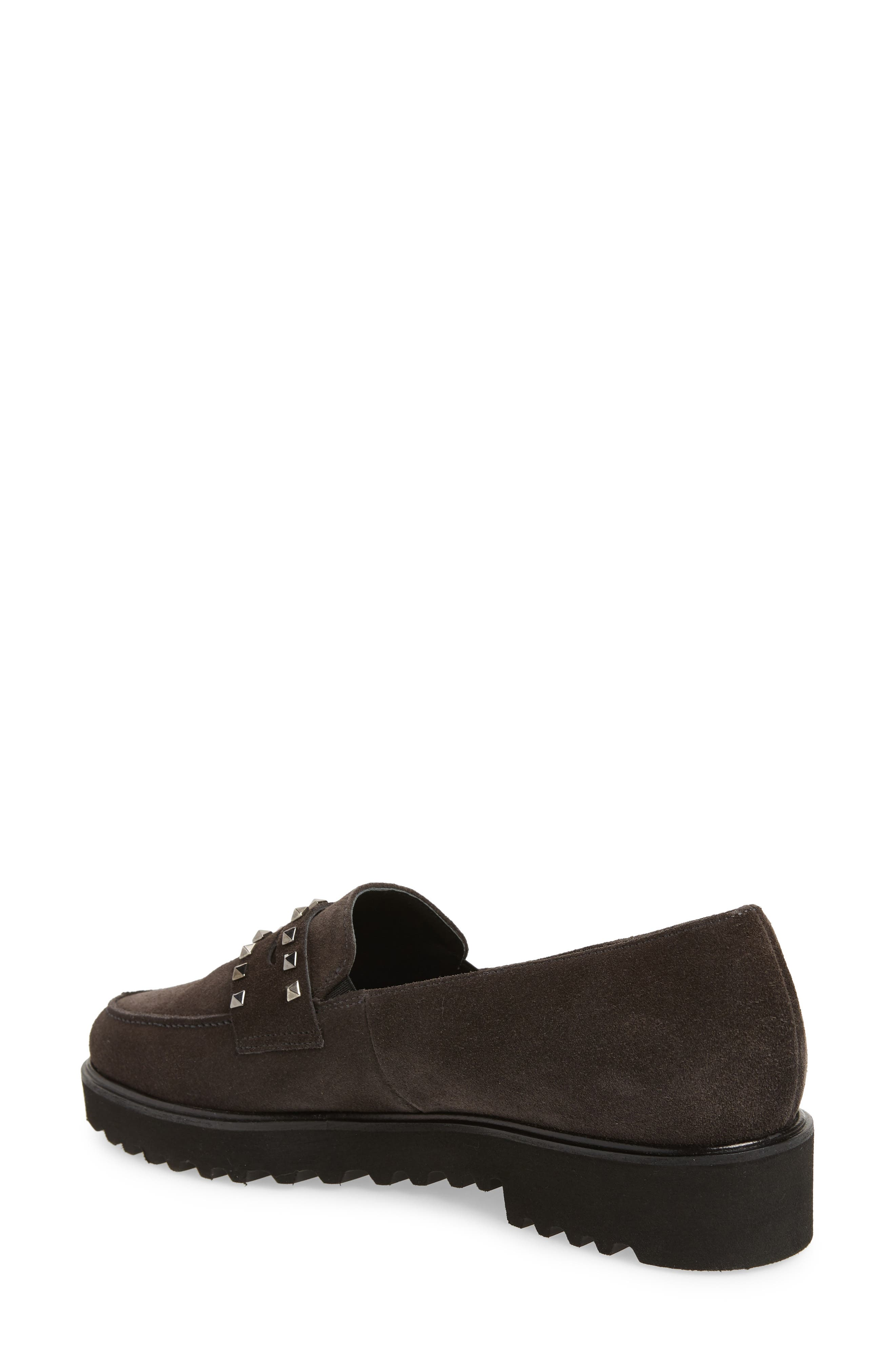 Sofia Loafer,                             Alternate thumbnail 2, color,                             ANTHRACITE SUEDE