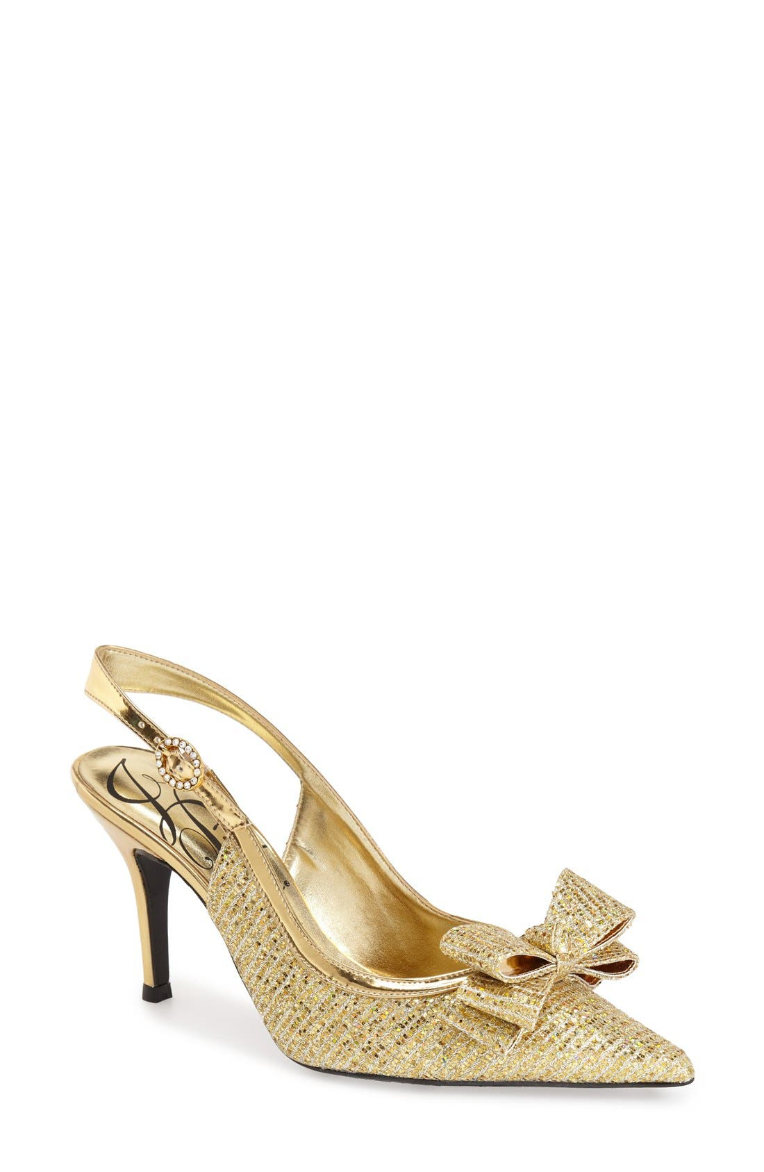 'Charise' Slingback Pump,                         Main,                         color, GOLD