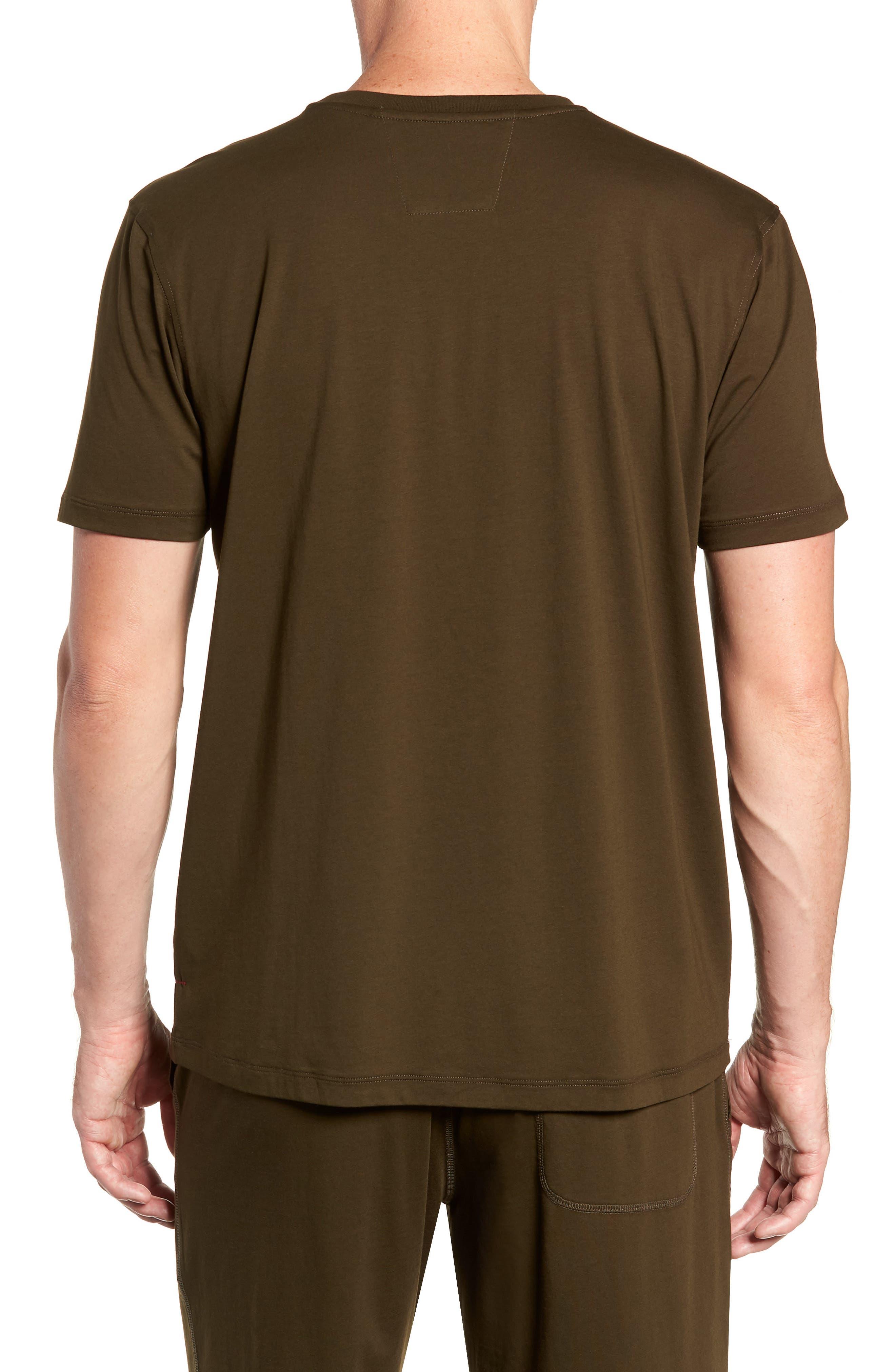 Stretch Cotton & Modal Crewneck T-Shirt,                             Alternate thumbnail 2, color,                             ARMY