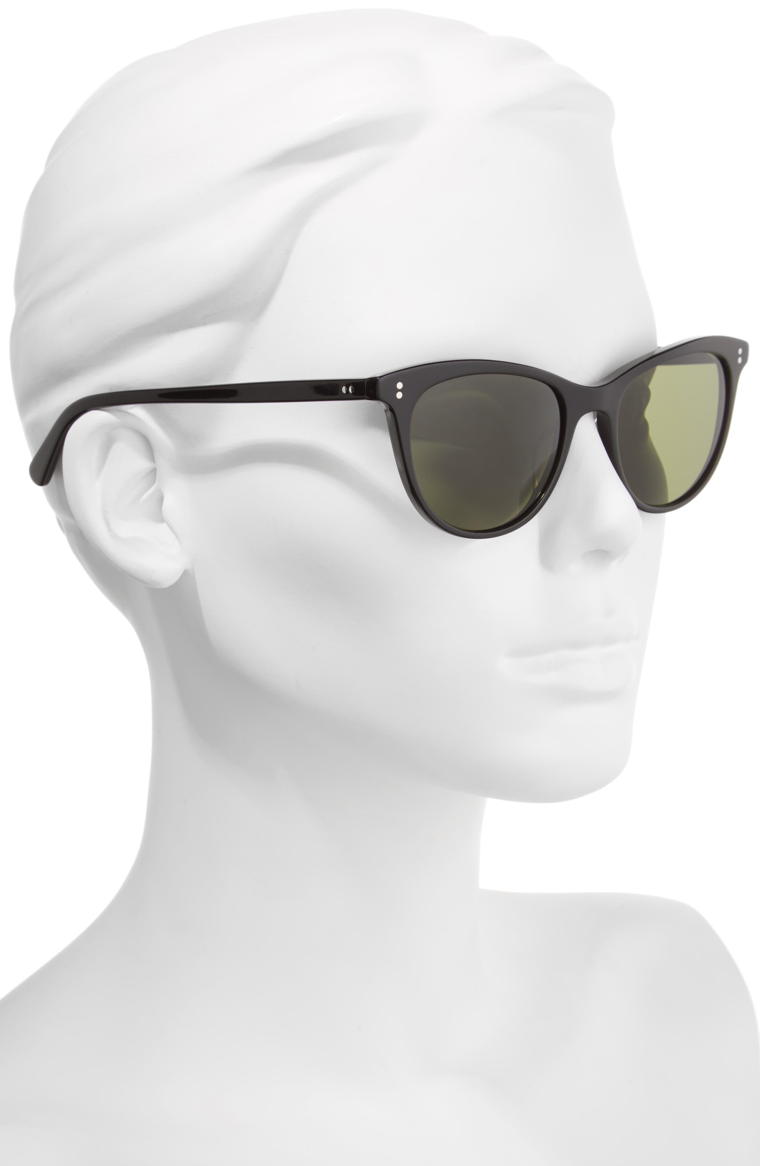 Jardinette 52mm Cat Eye Sunglasses,                             Alternate thumbnail 2, color,                             001
