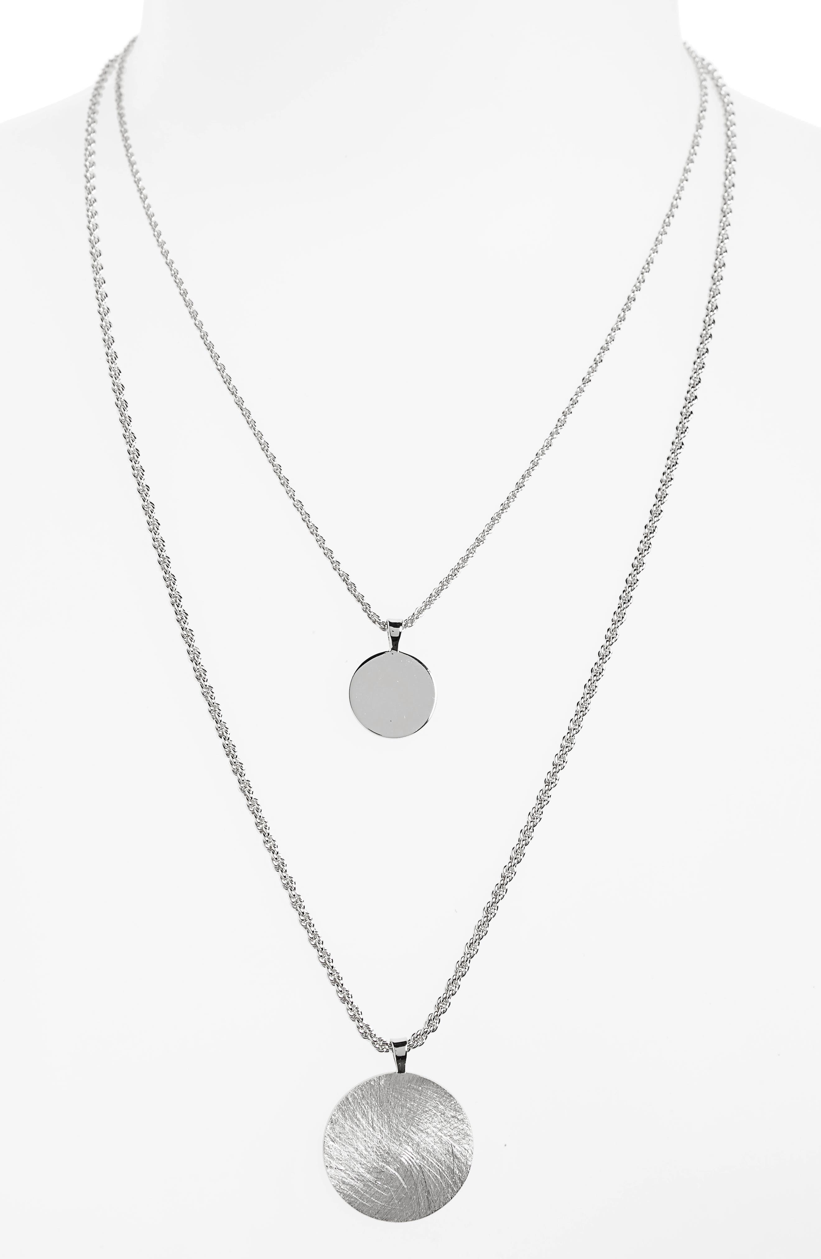 Double Layer Necklace,                             Main thumbnail 1, color,                             040