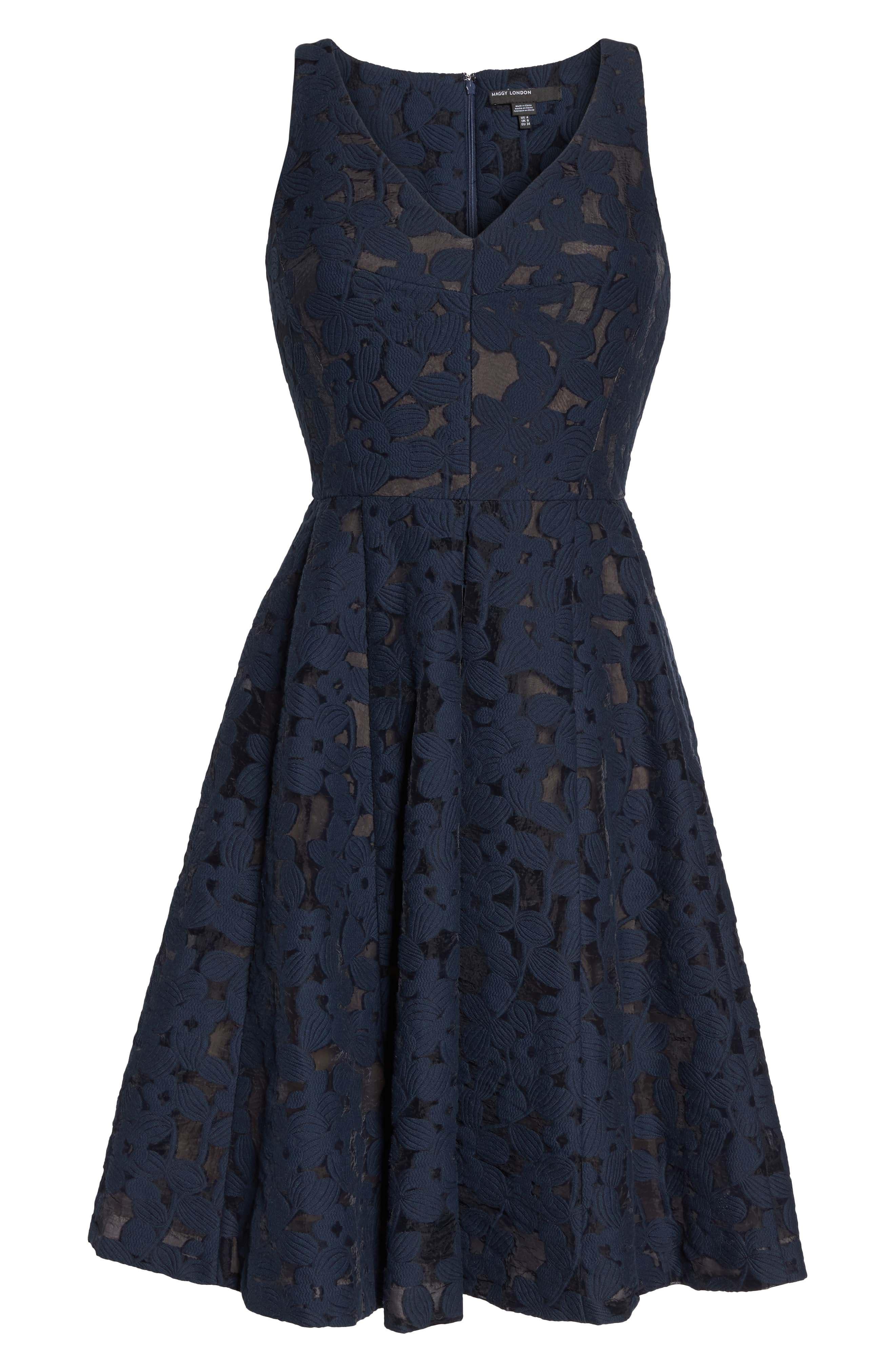 Fit & Flare Dress,                             Alternate thumbnail 6, color,                             402
