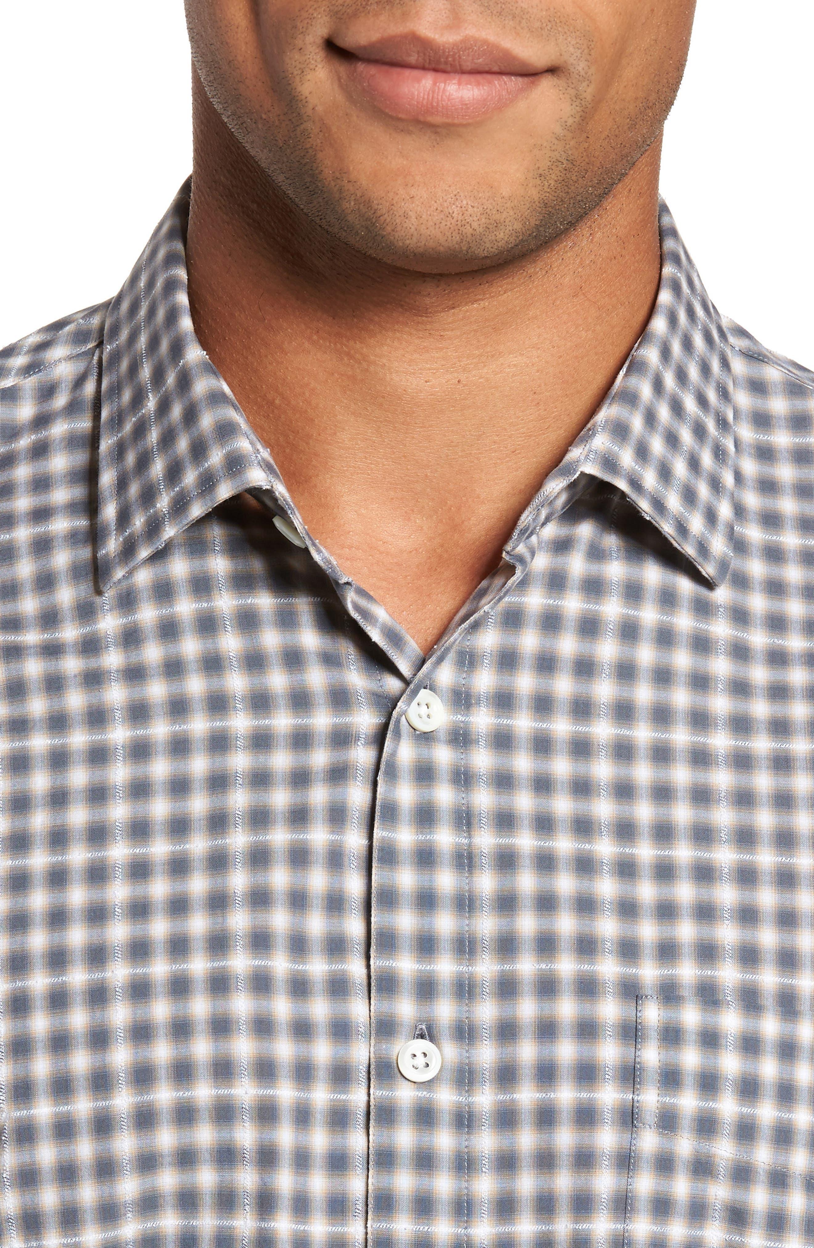 John T Print Slim Fit Sport Shirt,                             Alternate thumbnail 4, color,                             090