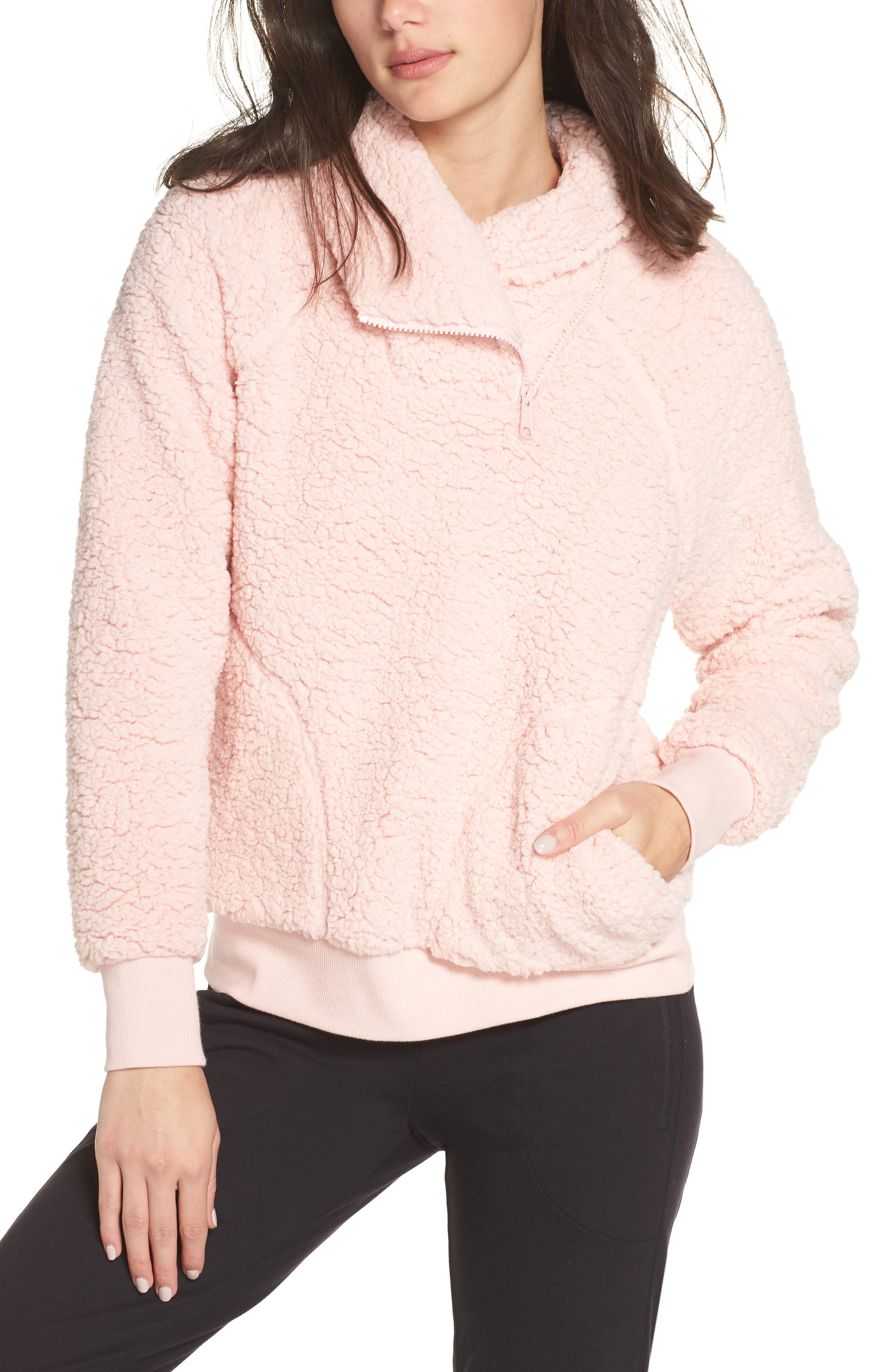 Shear Up Pullover,                         Main,                         color, PINK PEACHSKIN
