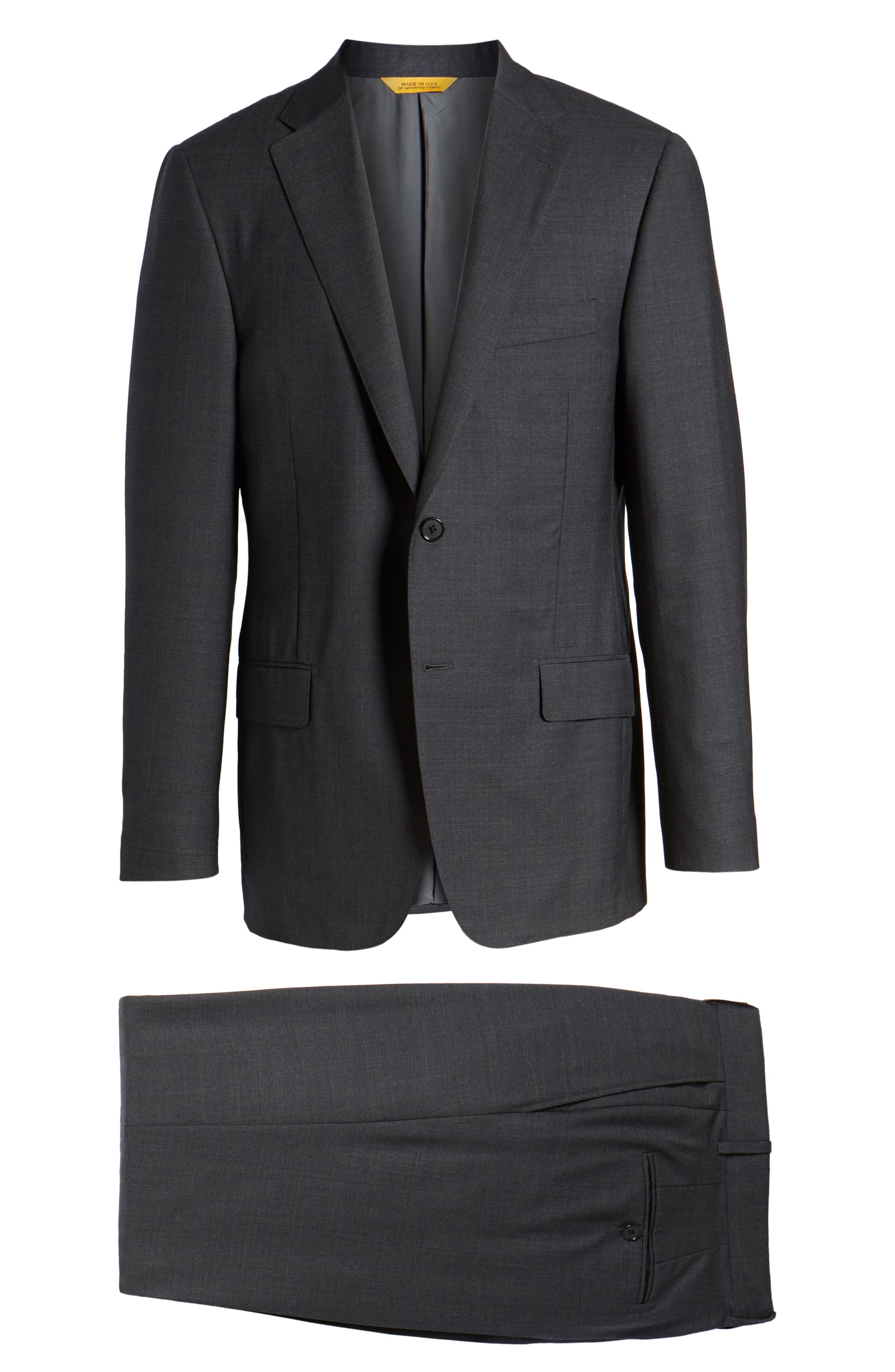 Classic B Fit Check Wool Suit,                             Alternate thumbnail 8, color,                             099