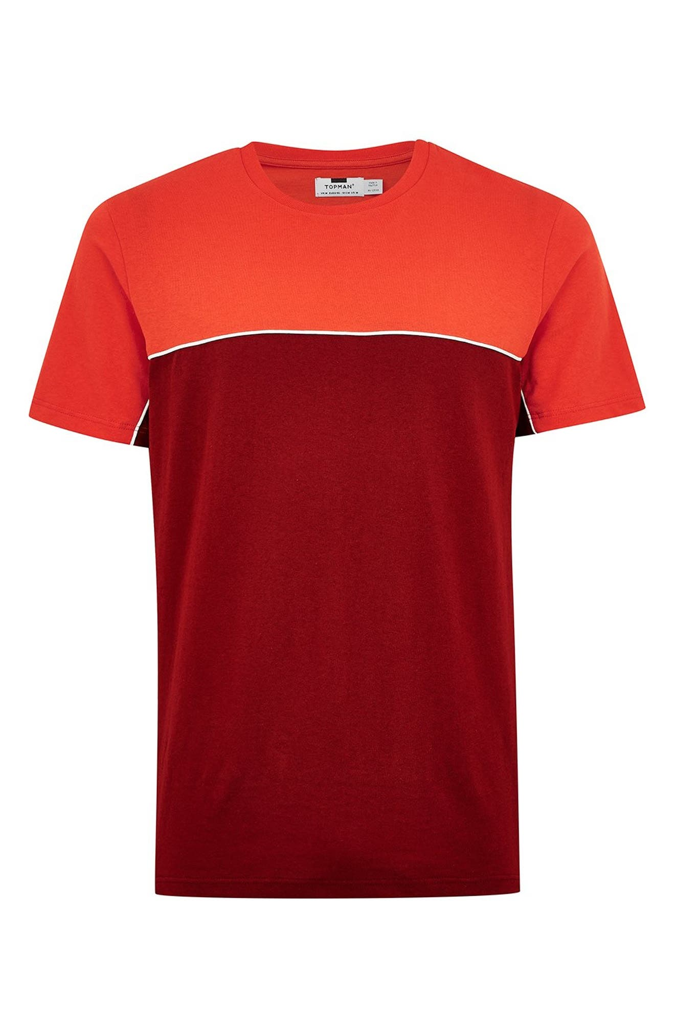 Colorblock T-Shirt,                             Alternate thumbnail 4, color,                             RED MULTI