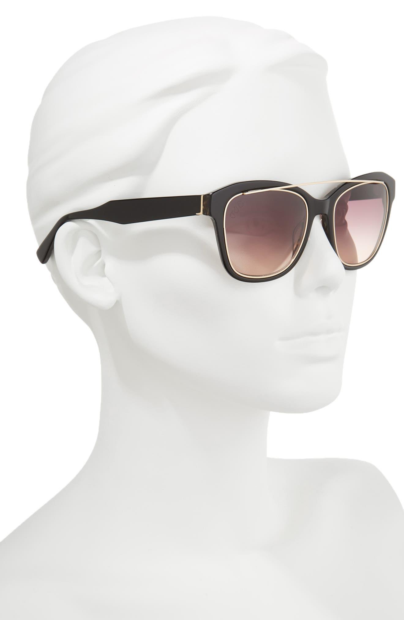 DEREK LAM,                             Hudson 52mm Gradient Sunglasses,                             Alternate thumbnail 2, color,                             001