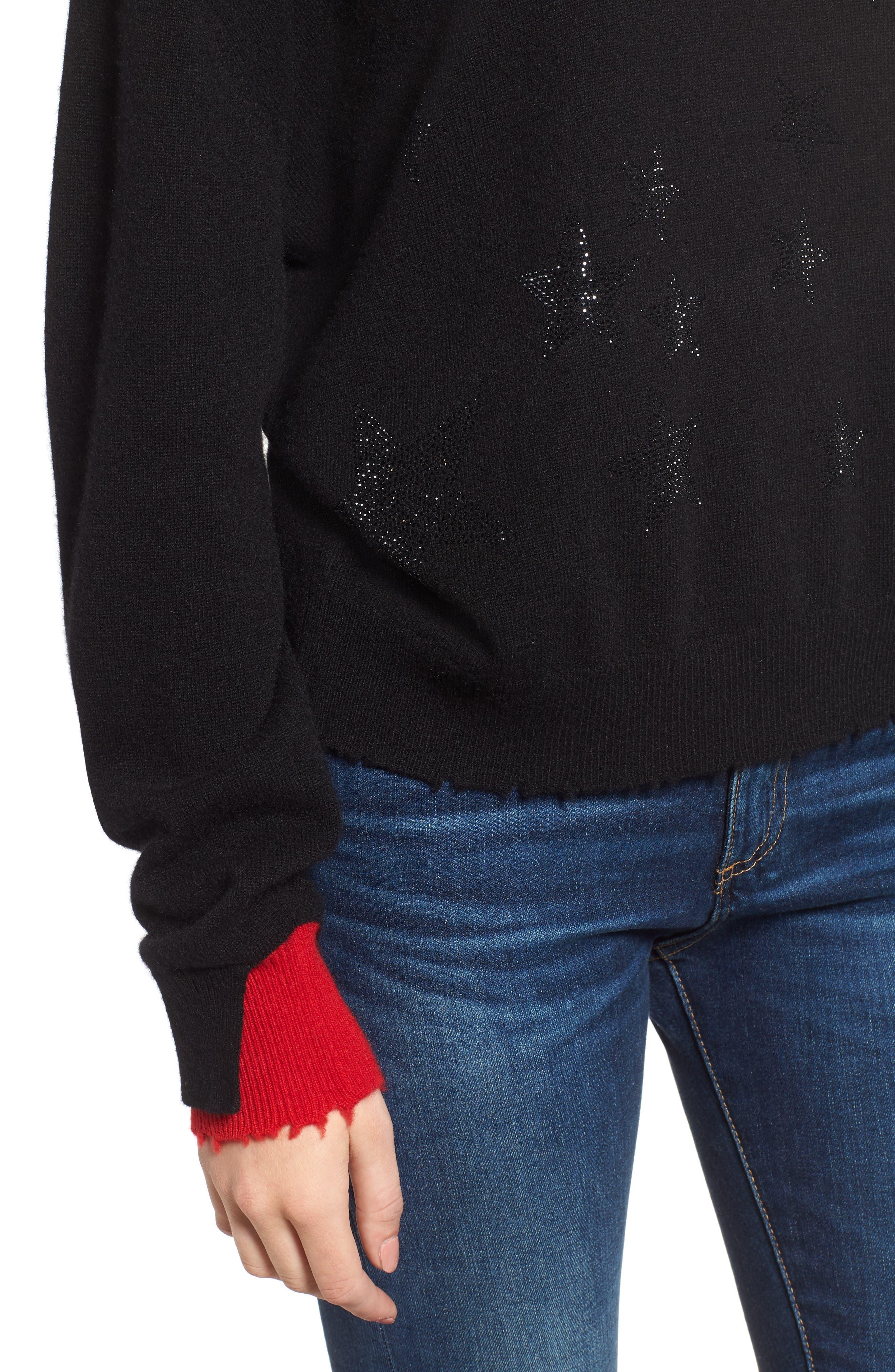 Gaby Cashmere Sweater,                             Alternate thumbnail 4, color,                             NOIR