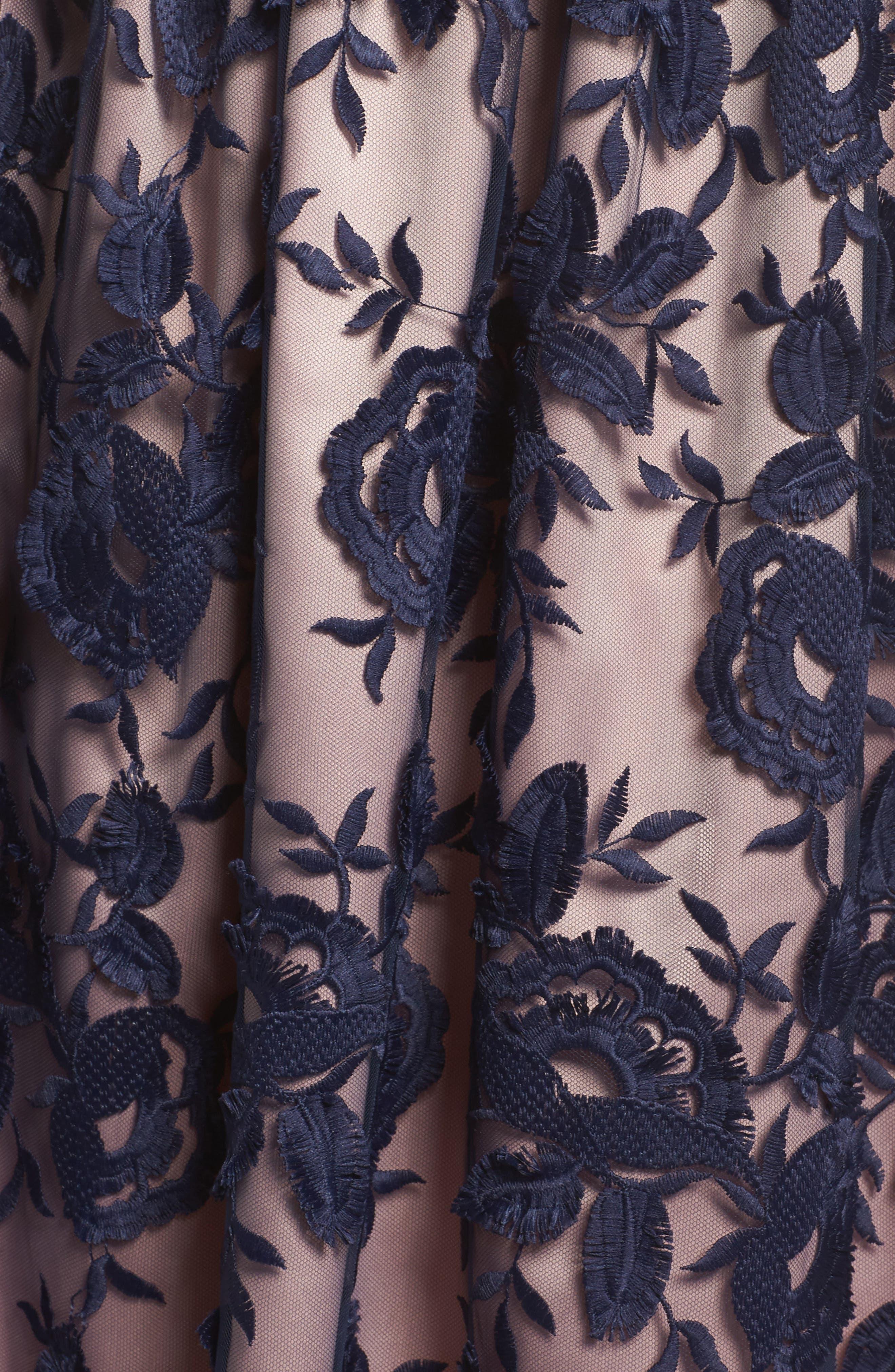 Embroidered Midi Skirt,                             Alternate thumbnail 4, color,                             401