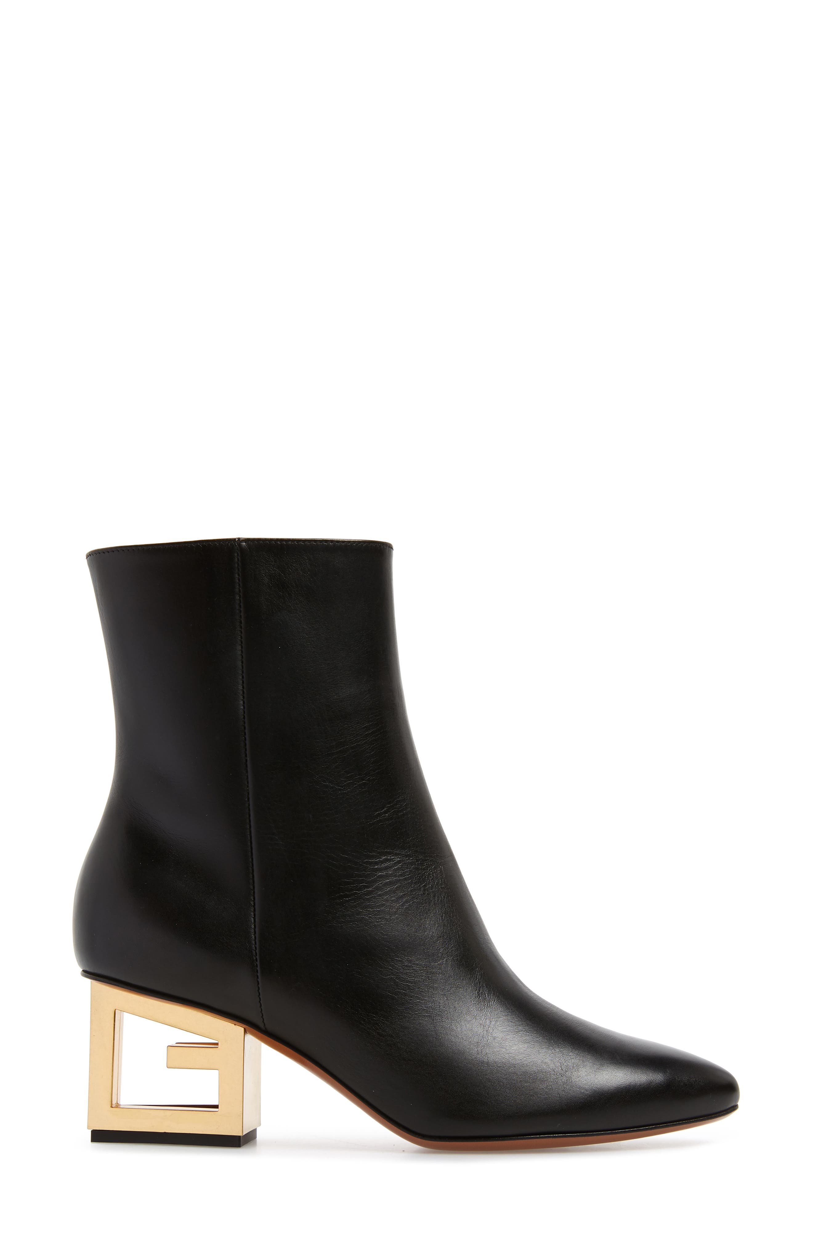 GIVENCHY,                             Triangle Heel Ankle Boot,                             Alternate thumbnail 3, color,                             BLACK