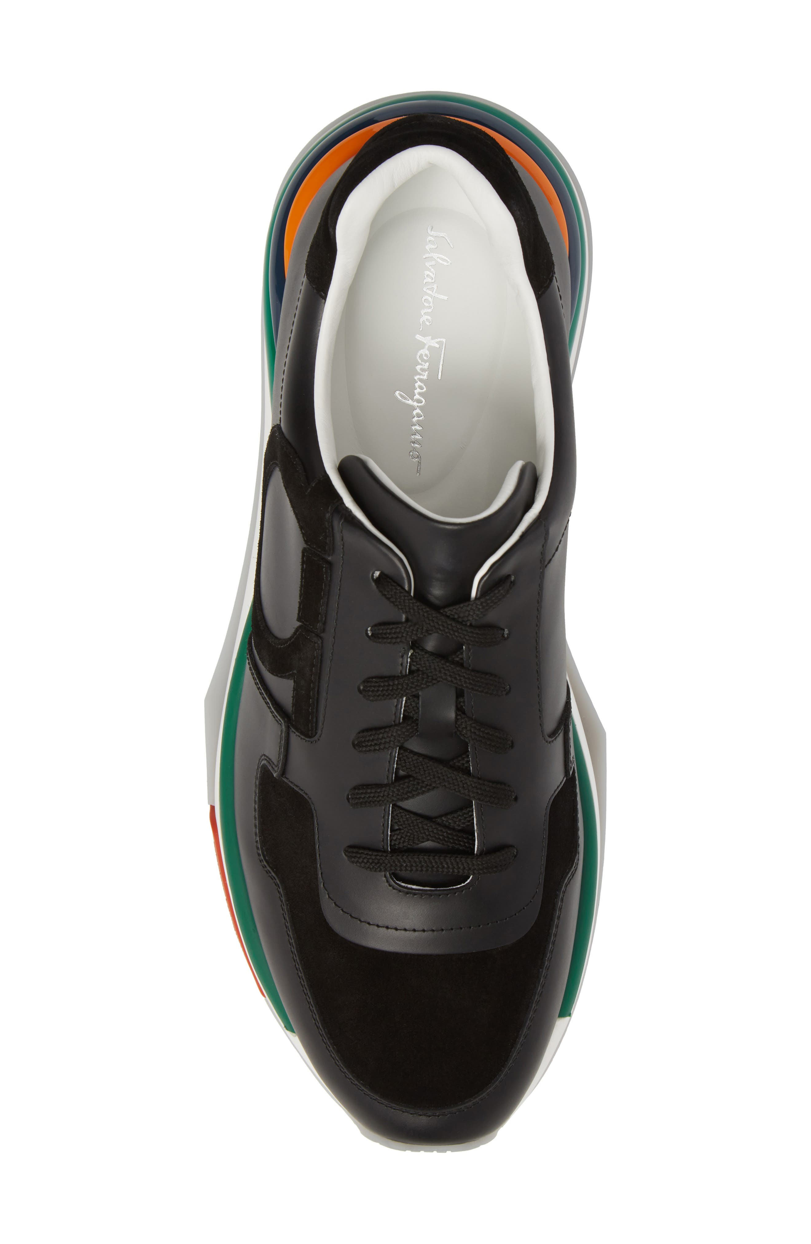 Brooklyn Running Shoe,                             Alternate thumbnail 5, color,                             NERO LEATHER