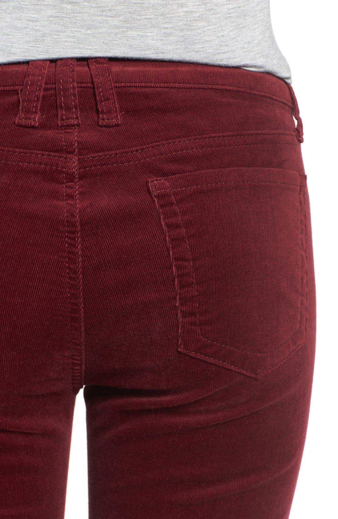 'Diana' Stretch Corduroy Skinny Pants,                             Alternate thumbnail 297, color,