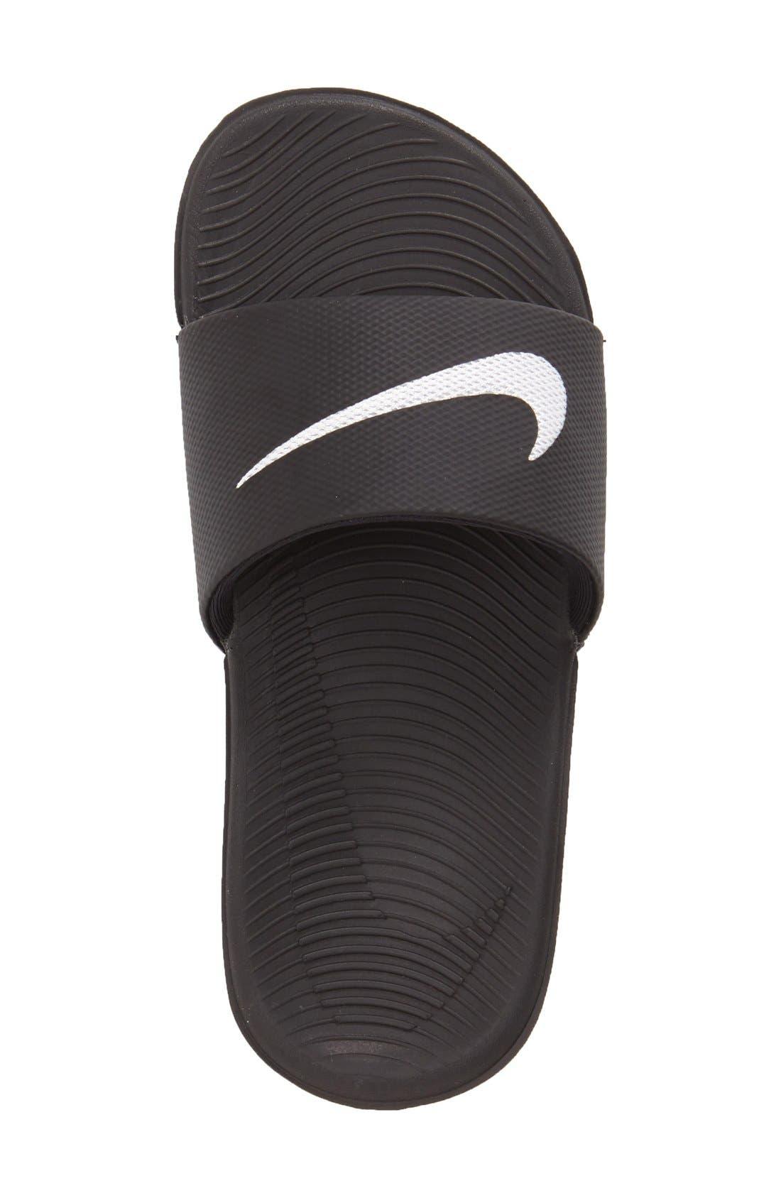 'Kawa' Slide Sandal,                             Alternate thumbnail 2, color,                             BLACK/ WHITE