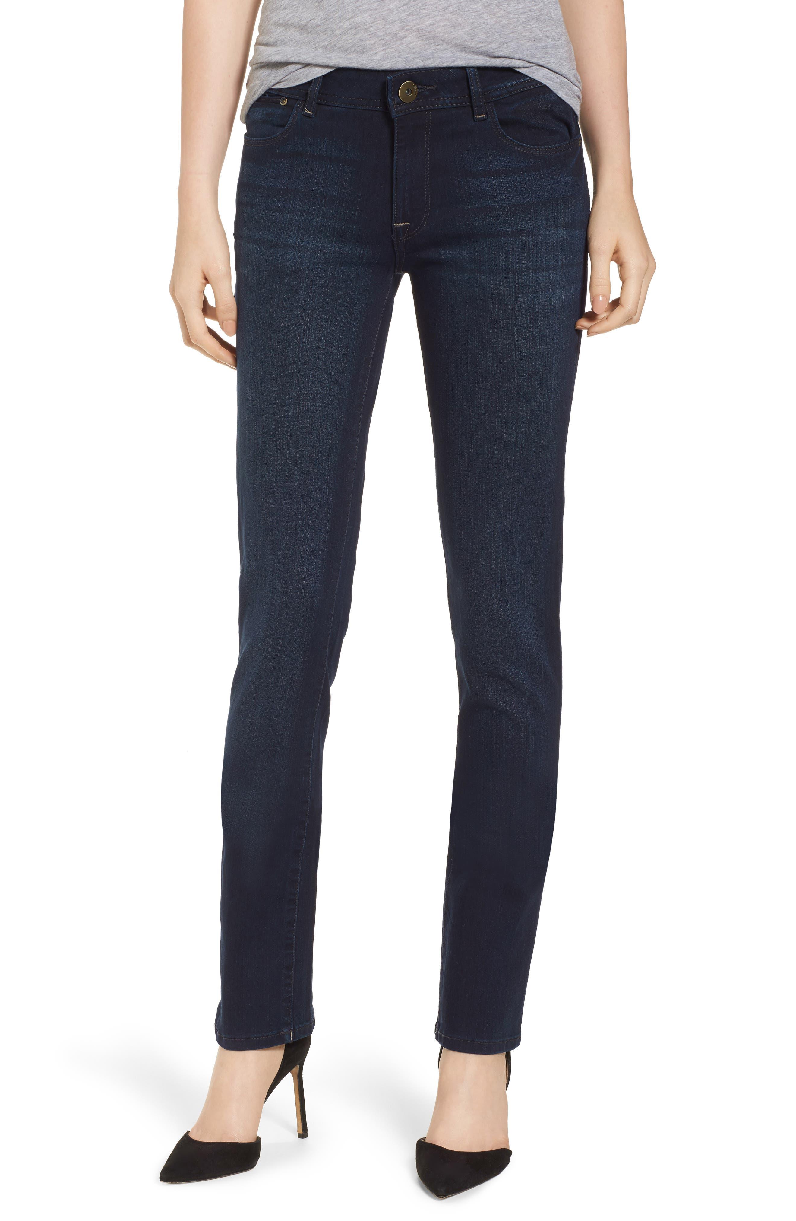 'Grace' Straight Jeans,                             Main thumbnail 1, color,                             405