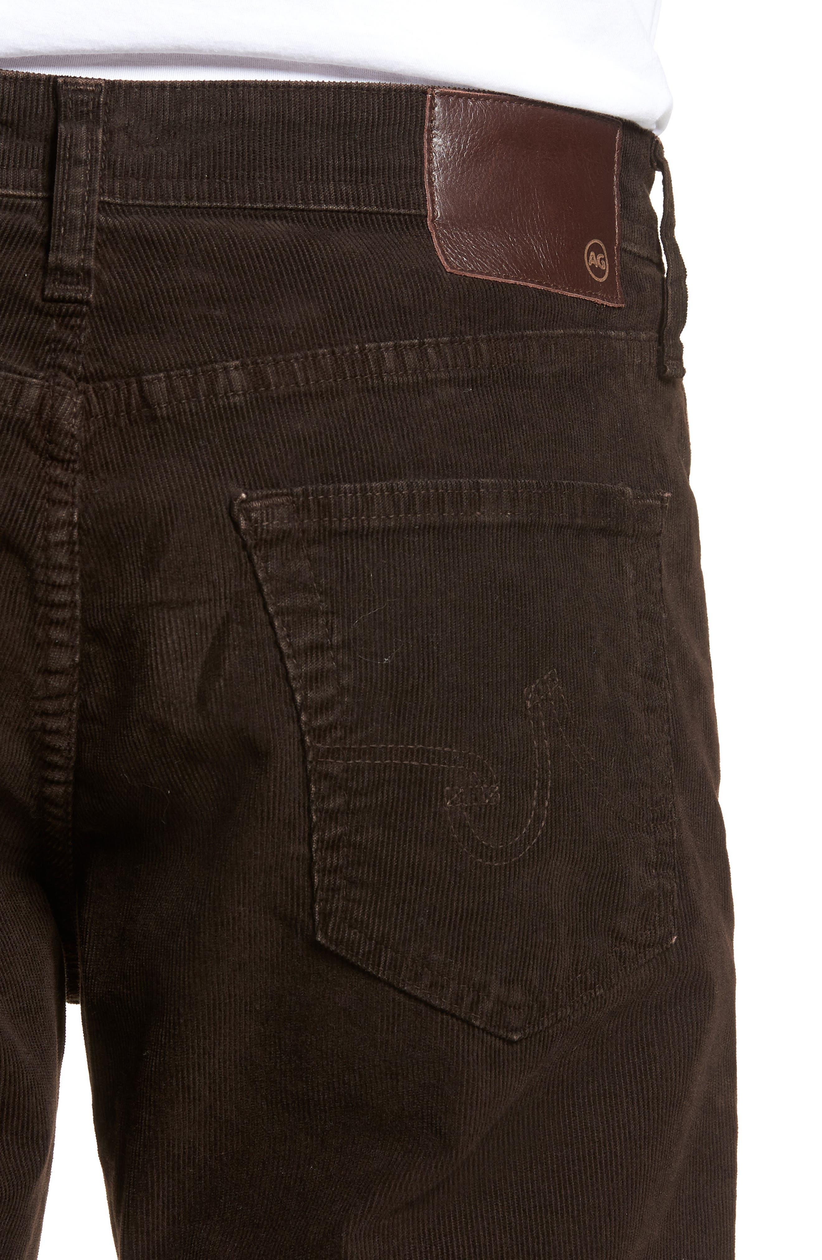 Everett Straight Leg Corduroy Pants,                             Alternate thumbnail 4, color,                             SULFUR SHUTTER