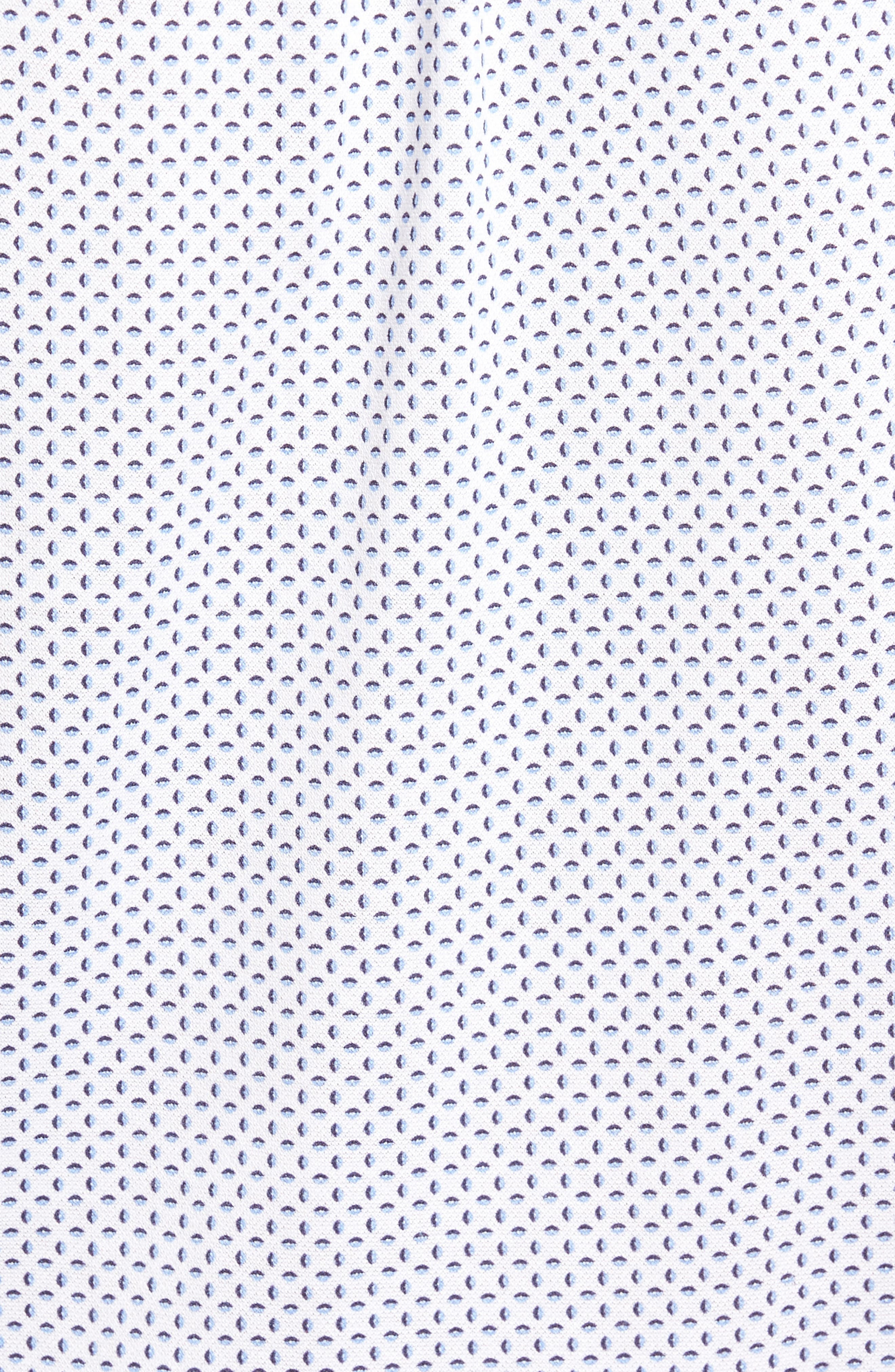 Ocean Mist Classic Fit Print Sport Shirt,                             Alternate thumbnail 5, color,                             100