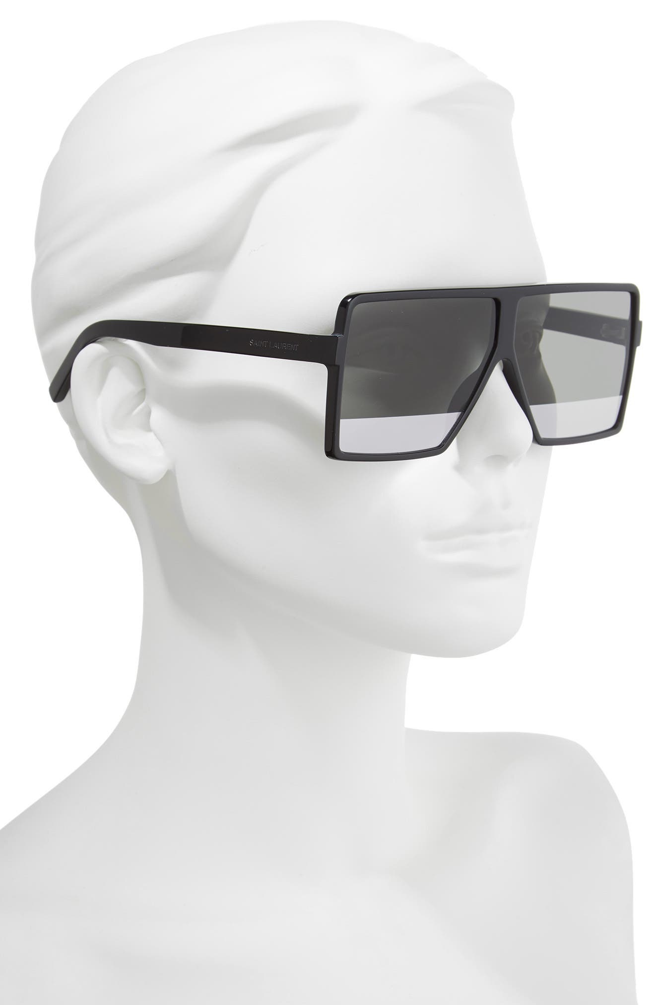 Betty 63mm Shield Sunglasses,                             Alternate thumbnail 2, color,                             002