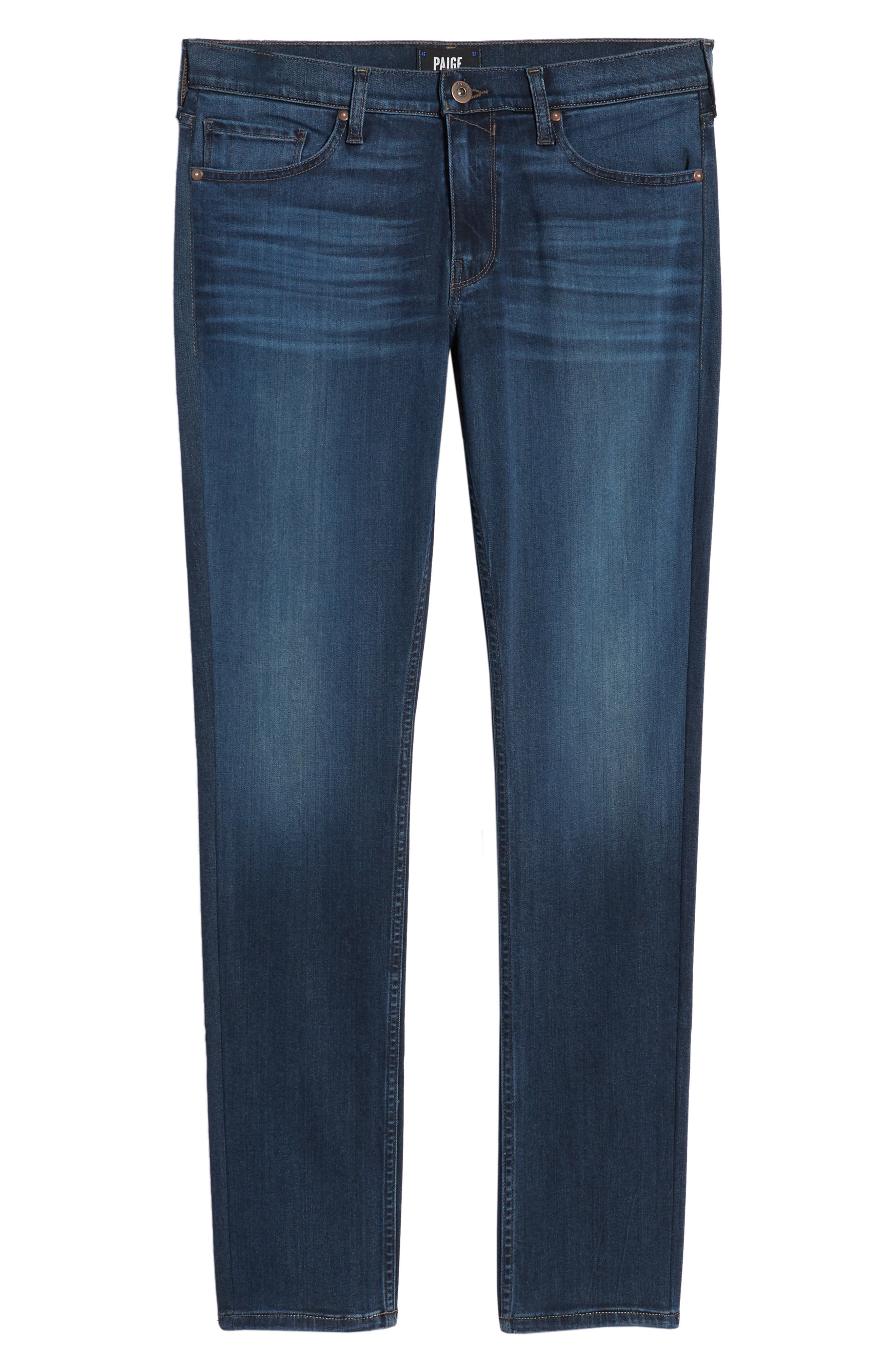 Transcend - Croft Skinny Fit Jeans,                             Alternate thumbnail 6, color,                             HUXLEY