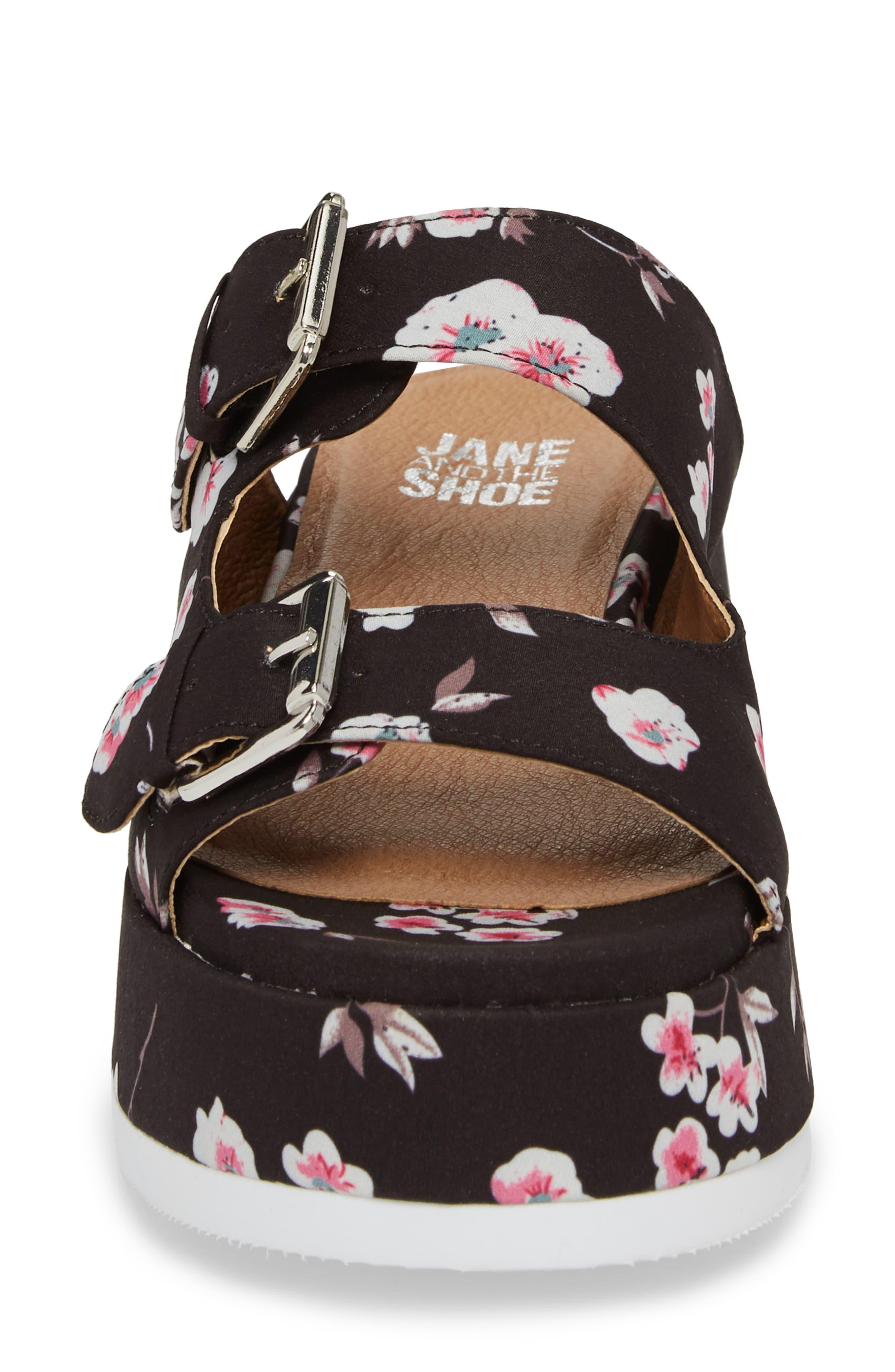 Jordan Two-Buckle Slide Sandal,                             Alternate thumbnail 4, color,                             001