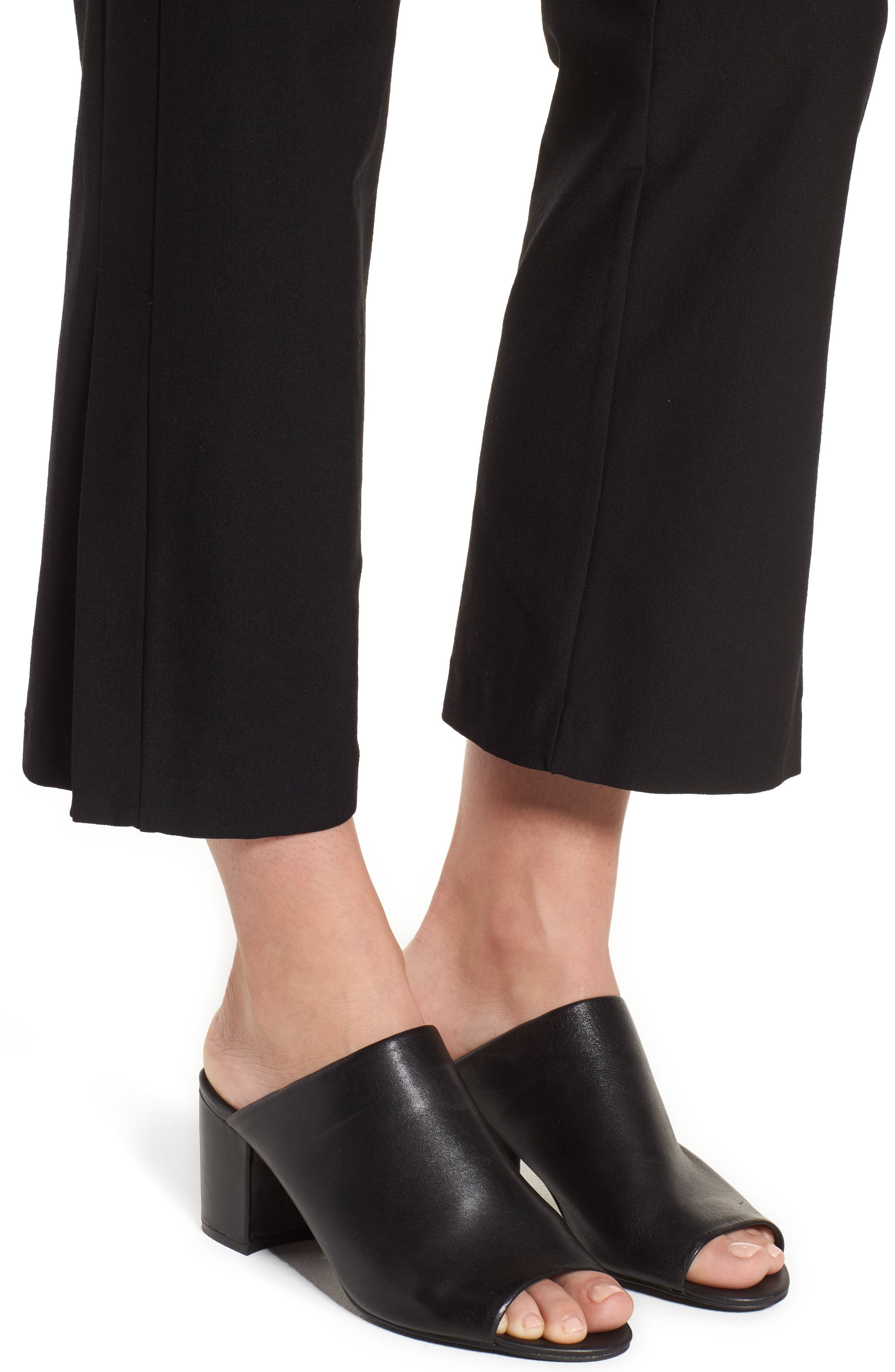 EILEEN FISHER,                             Bootcut Crop Pants,                             Alternate thumbnail 4, color,                             001