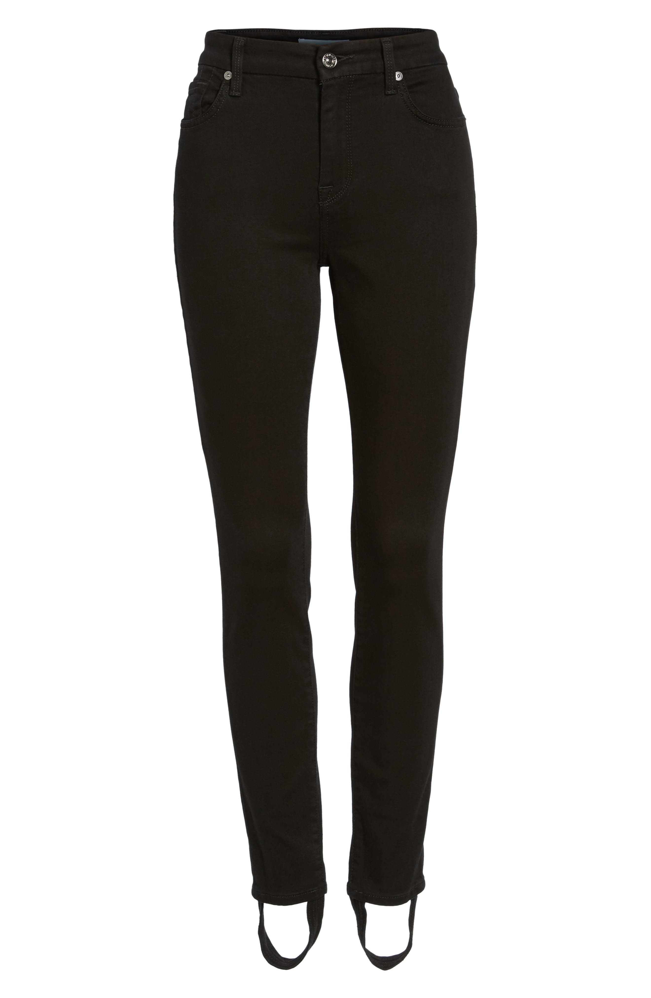 b(air) High Waist Ankle Skinny Stirrup Jeans,                             Alternate thumbnail 6, color,                             004