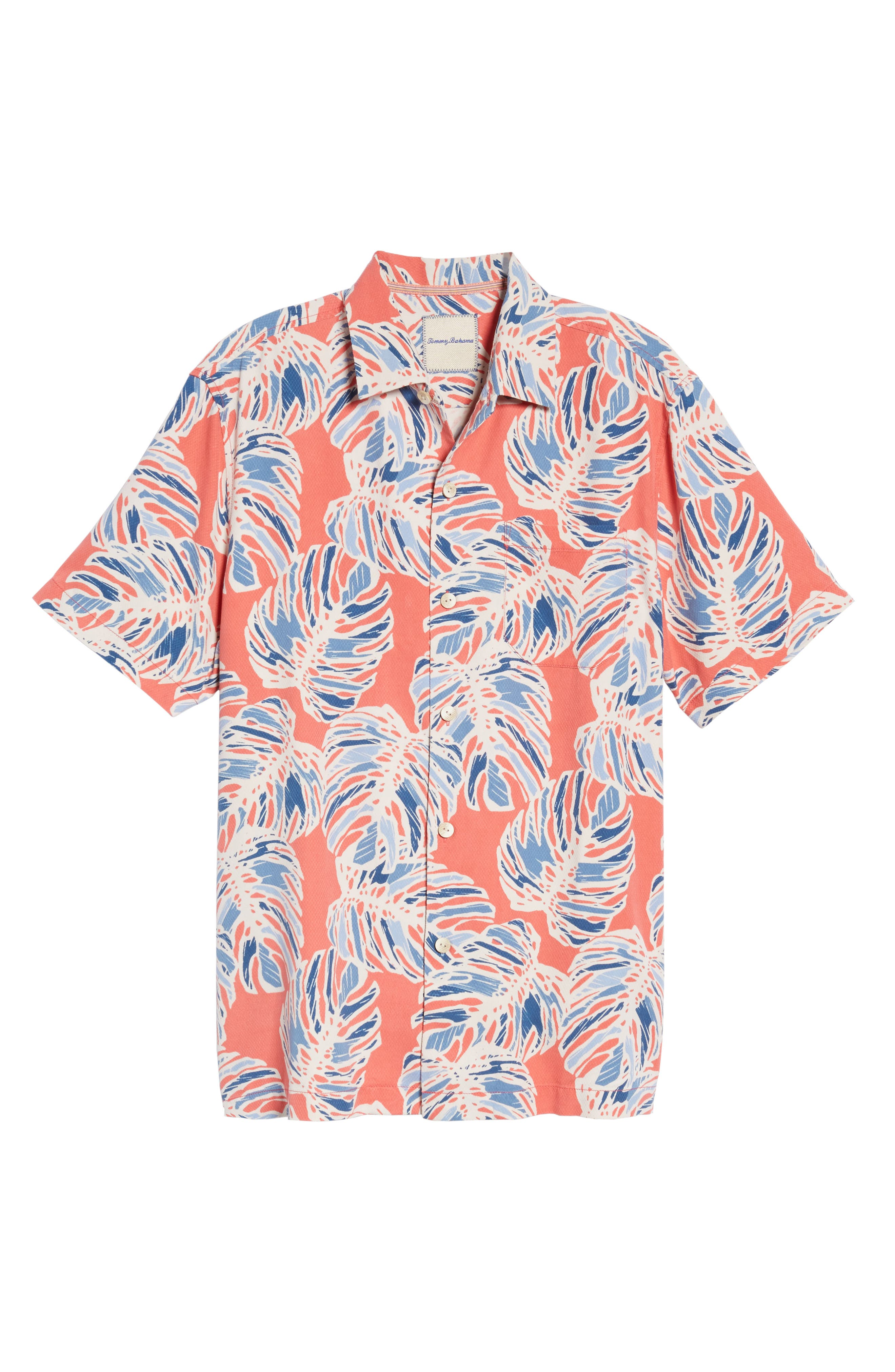 Leaf It to Chance Silk Camp Shirt,                             Alternate thumbnail 6, color,