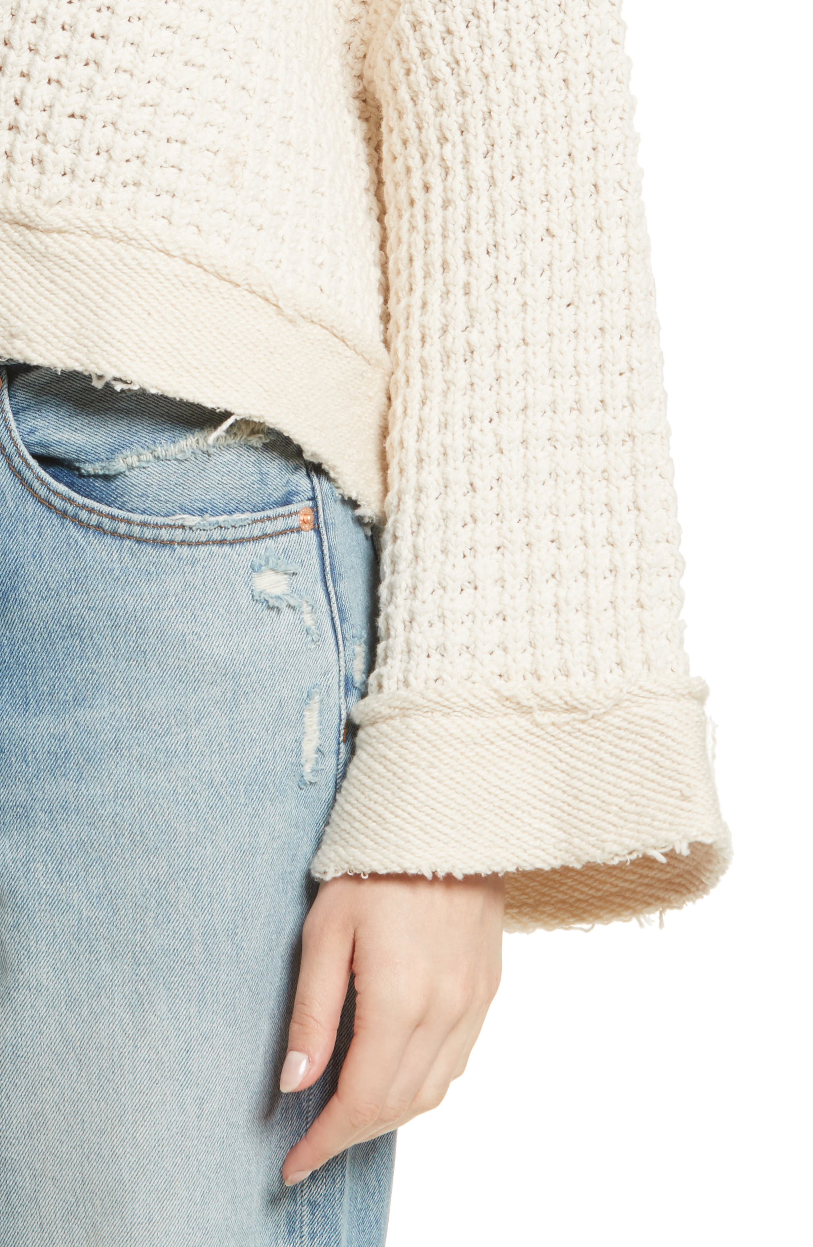 Maybe Baby Bell Sleeve Sweater,                             Alternate thumbnail 8, color,