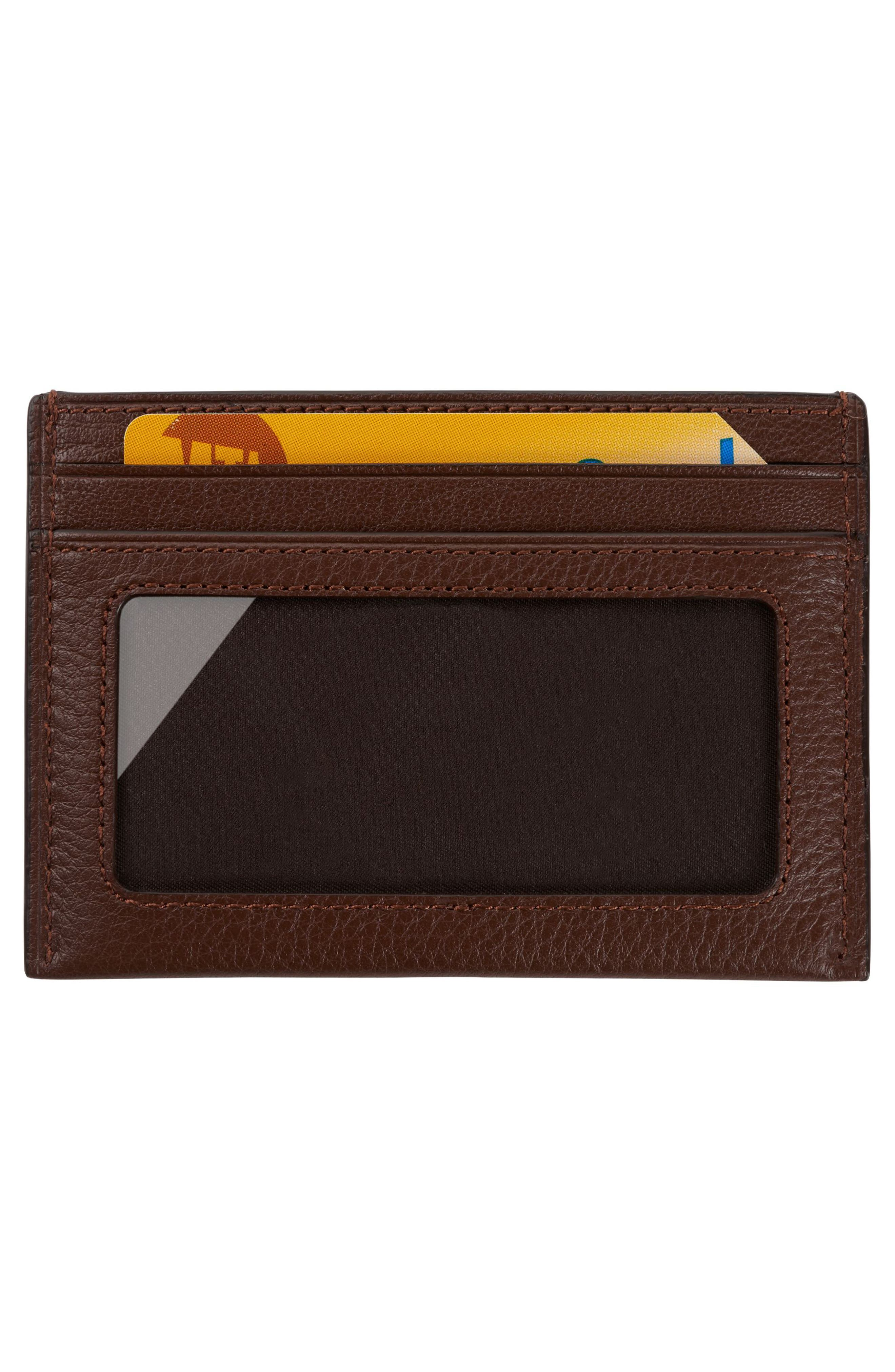 Leather Card Case,                             Alternate thumbnail 5, color,