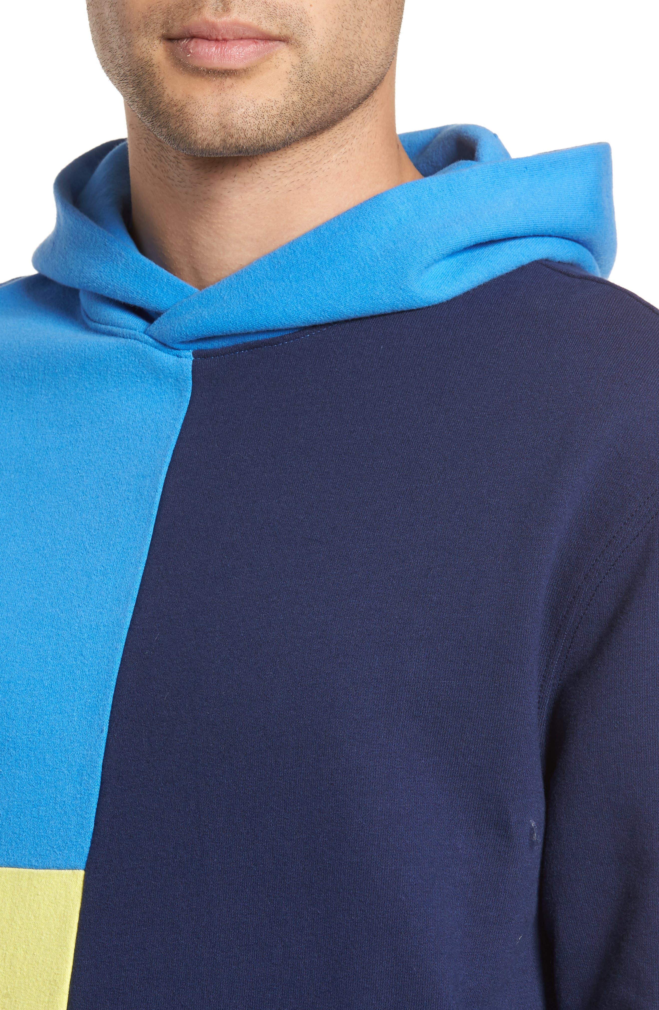 Colorblock Hoodie Sweatshirt,                             Alternate thumbnail 4, color,                             410