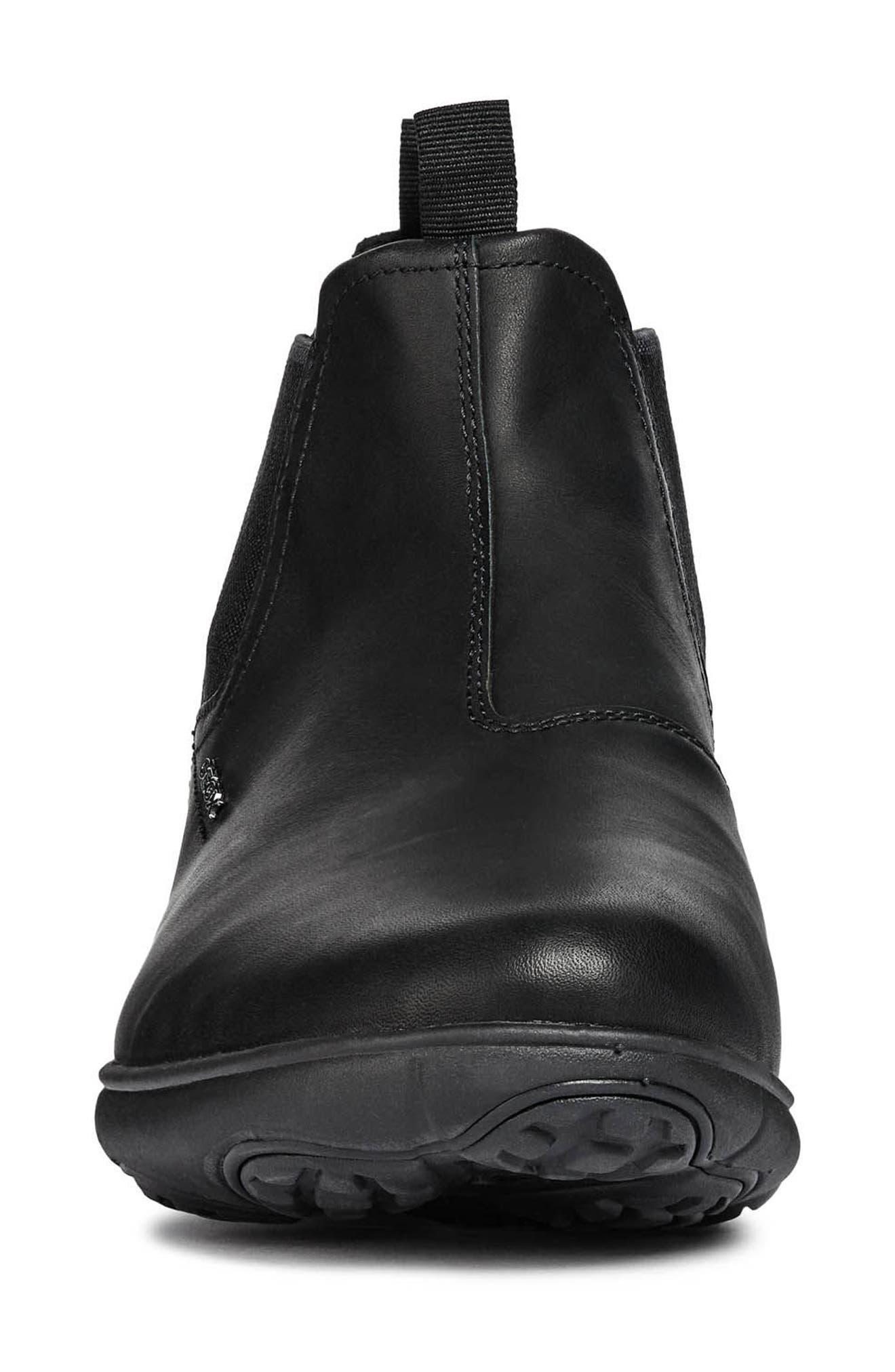 Nebula Mid Chelsea Sneaker,                             Alternate thumbnail 4, color,                             BLACK LEATHER