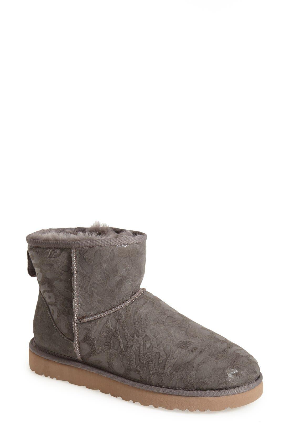 UGG<SUP>®</SUP> Australia 'Classic Mini Leopard' Boot, Main, color, 020