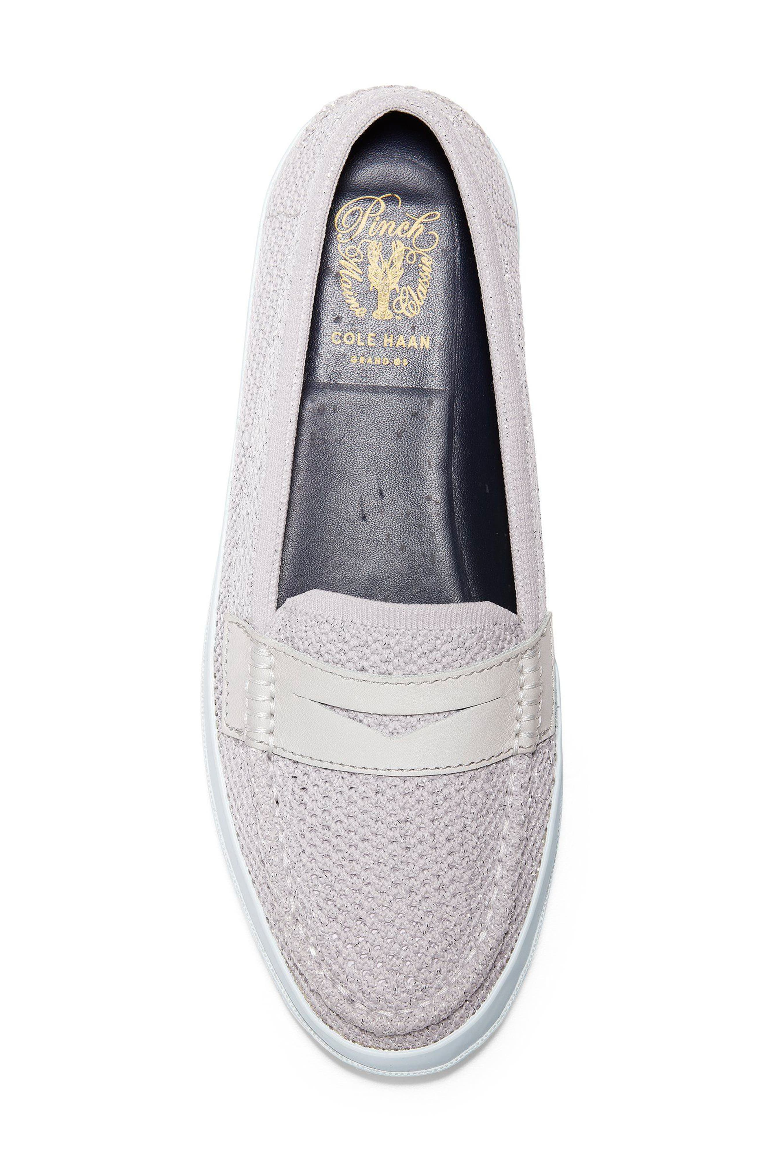 Pinch Stitchlite<sup>™</sup> Loafer,                             Alternate thumbnail 5, color,                             SILVER/ WHITE LEATHER