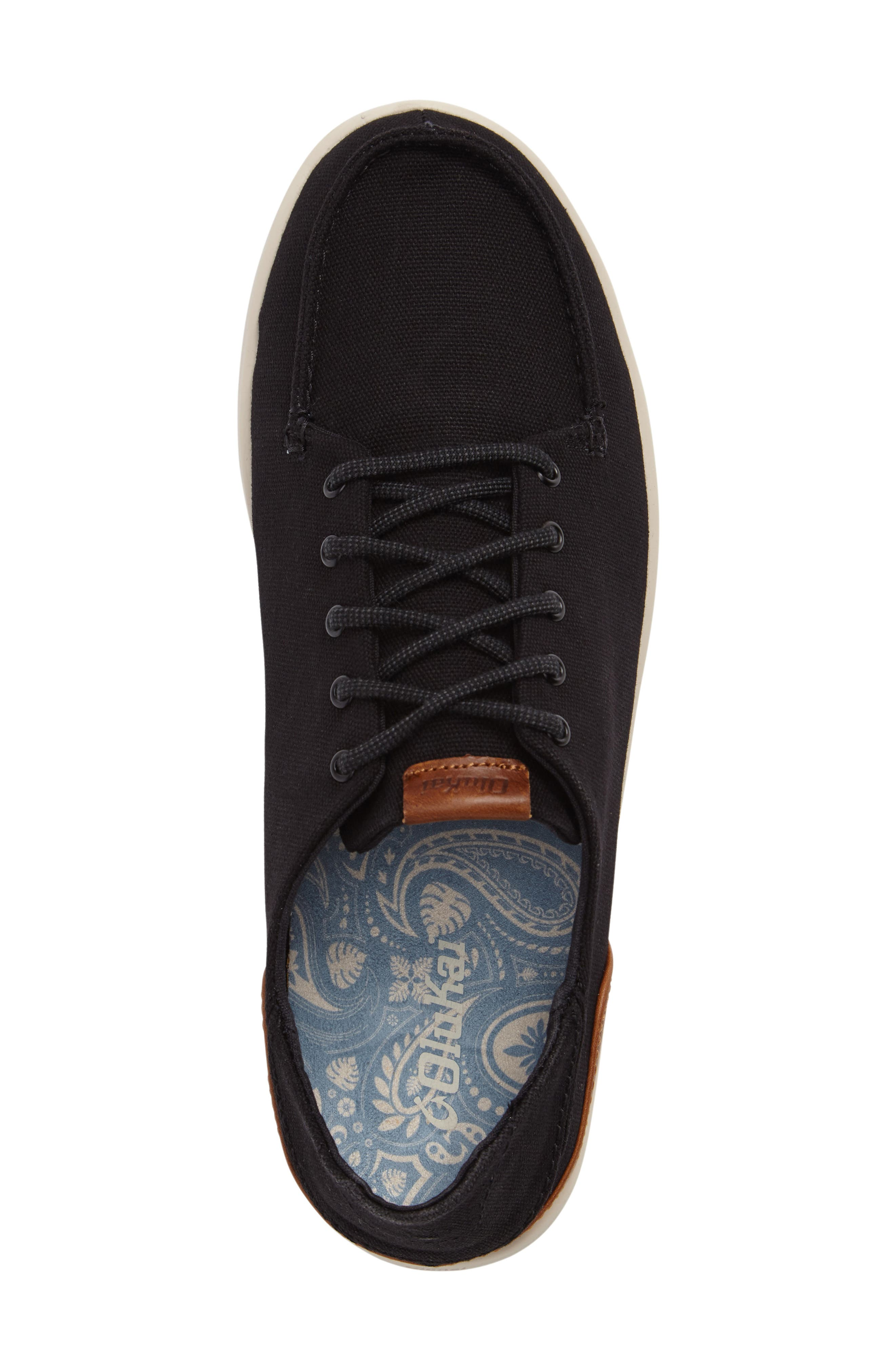 Manoa Sneaker,                             Alternate thumbnail 5, color,                             BLACK/ MUSTARD