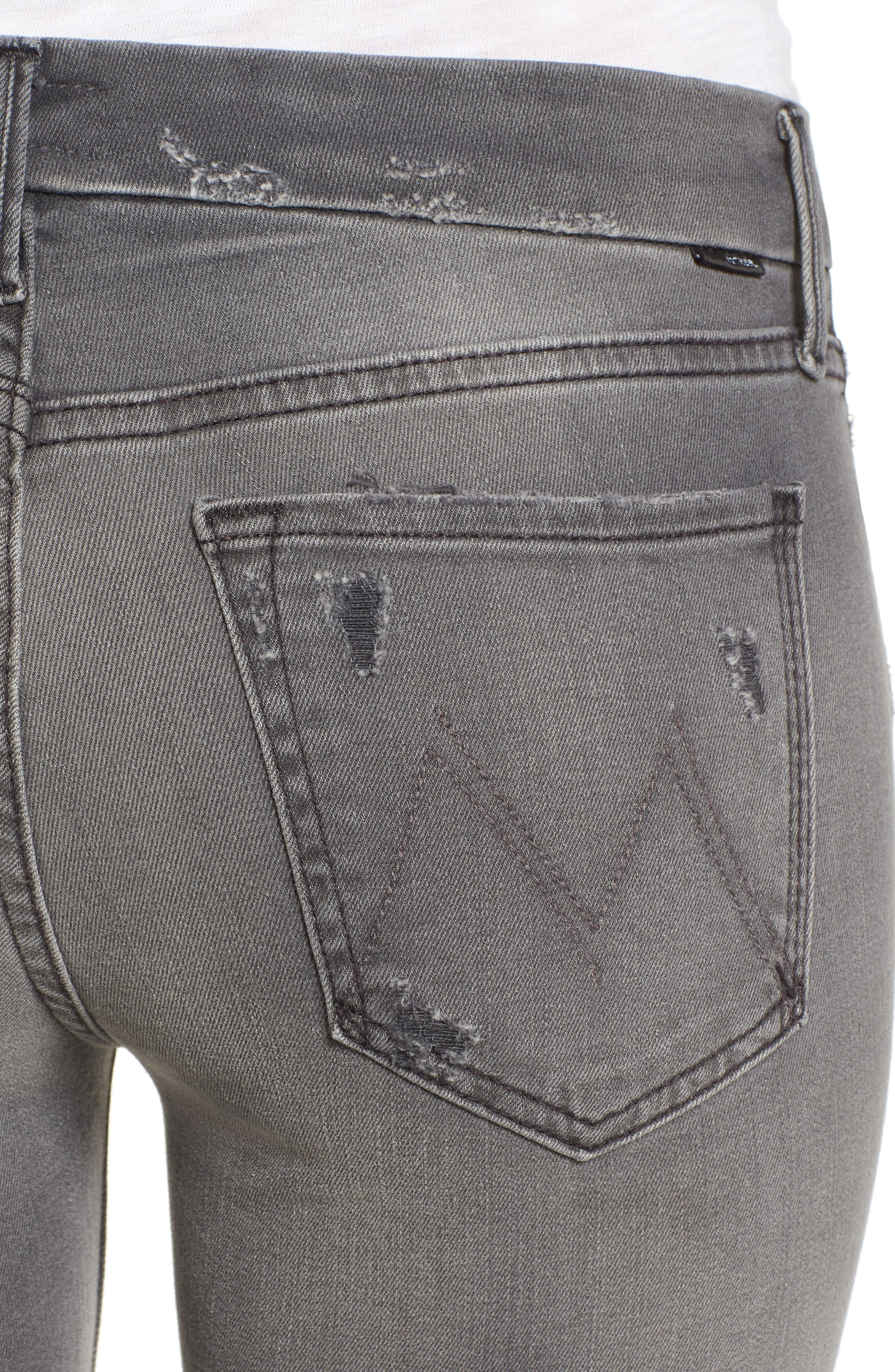 Frayed Ankle Jeans,                             Alternate thumbnail 5, color,                             020