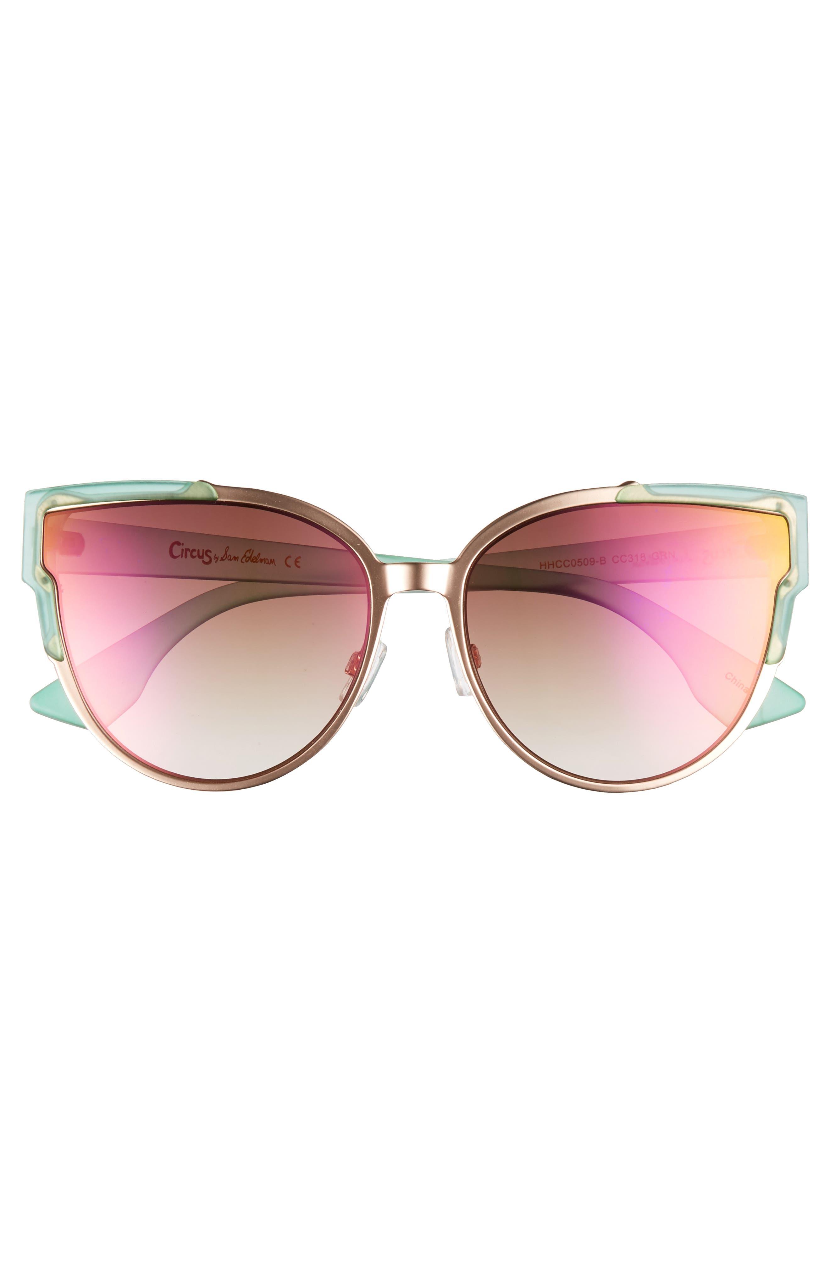 56mm Combo Cat Eye Sunglasses,                             Alternate thumbnail 11, color,
