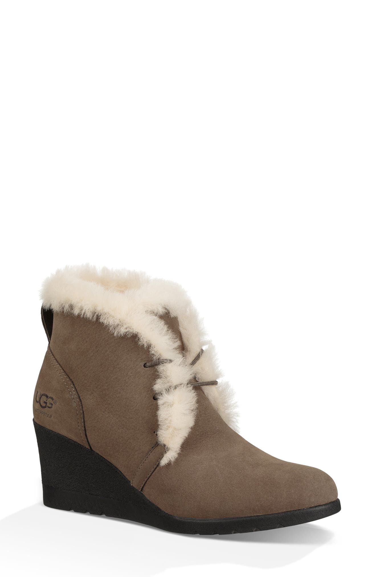 Jeovana Waterproof Genuine Shearling Lined Boot,                         Main,                         color, MYSTERIOUS