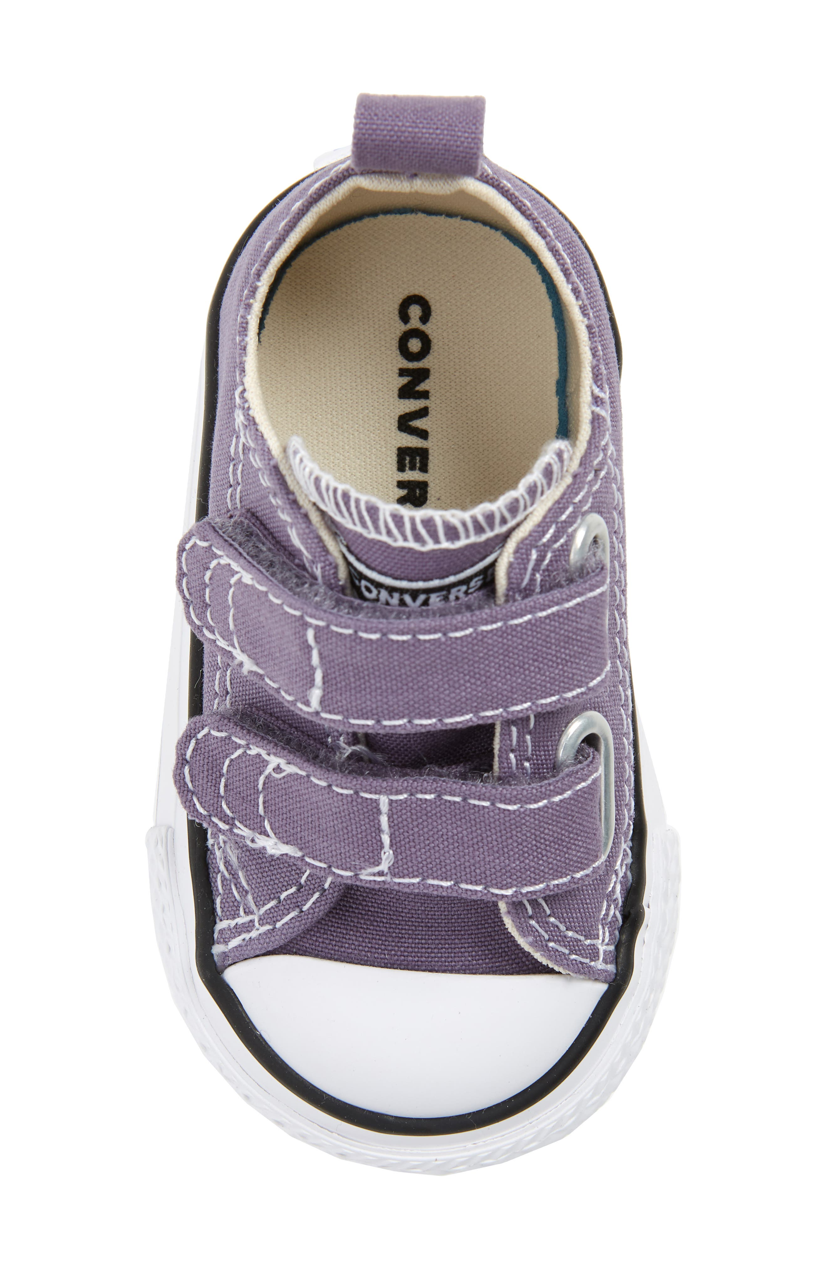 Chuck Taylor<sup>®</sup> 'Double Strap' Sneaker,                             Alternate thumbnail 5, color,                             MOODY PURPLE/ NATURAL IVORY