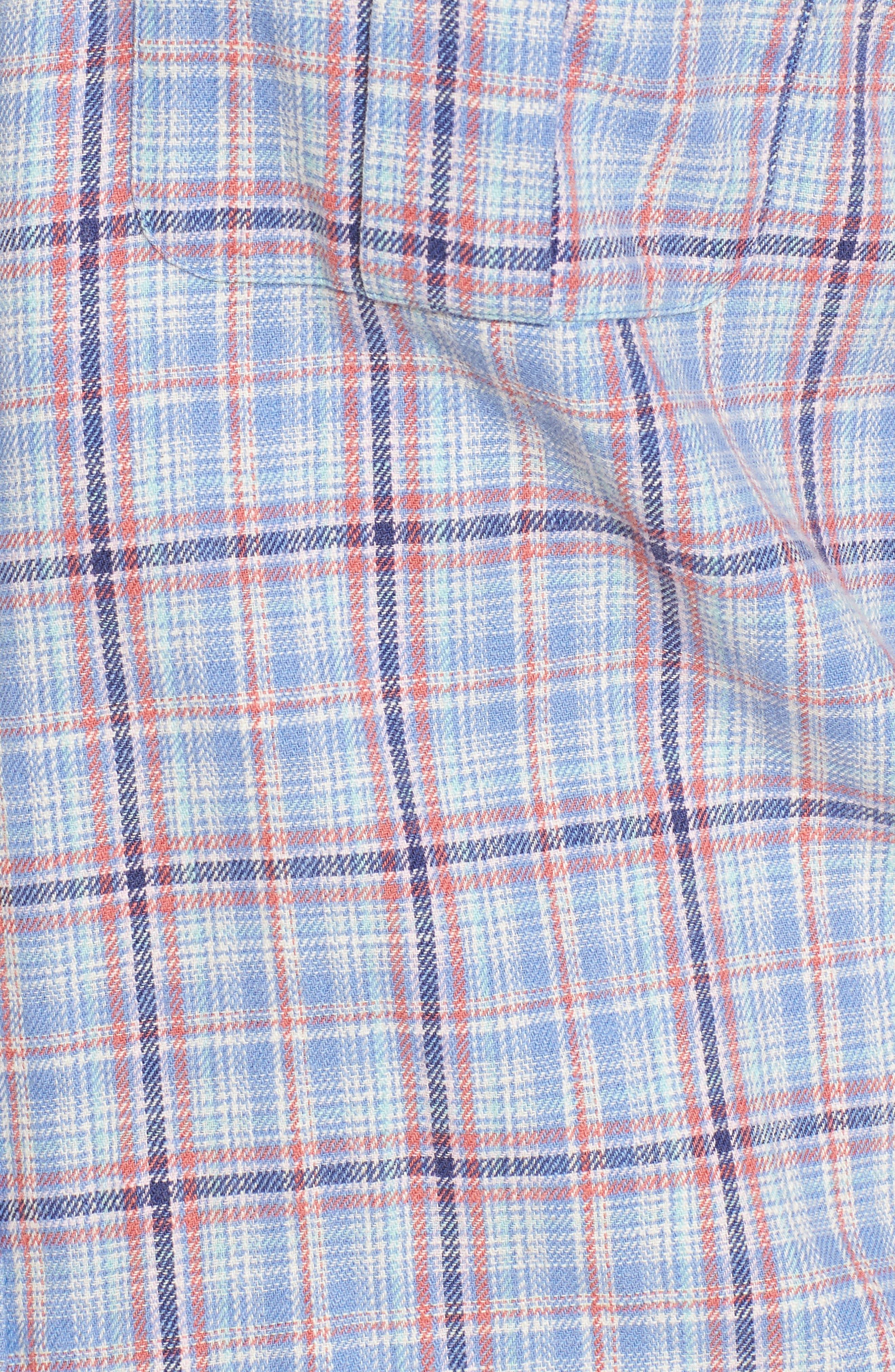 Emerald Isle Regular Fit Plaid Sport Shirt,                             Alternate thumbnail 5, color,