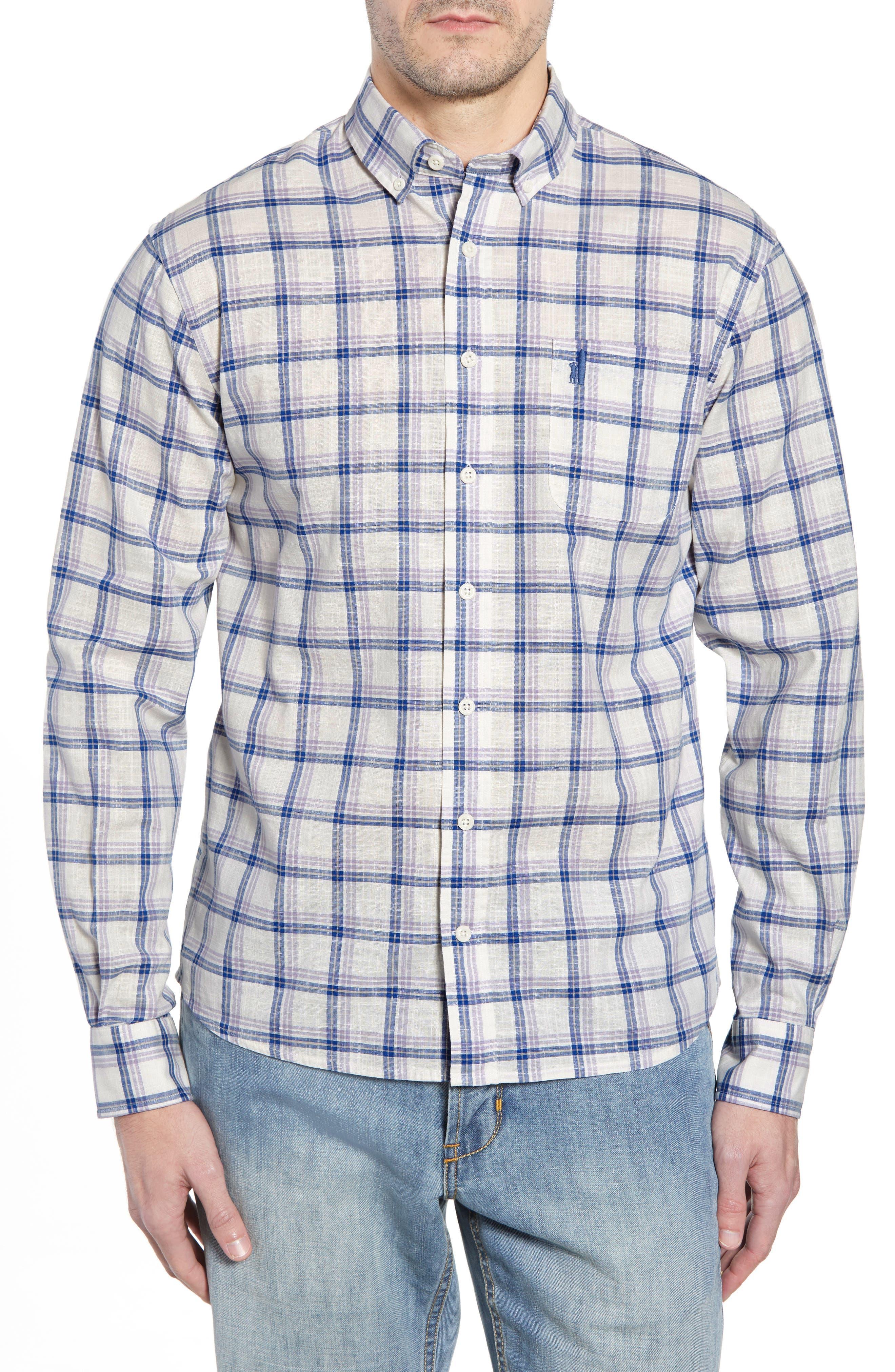 Davis Regular Fit Sport Shirt,                         Main,                         color, LILAC
