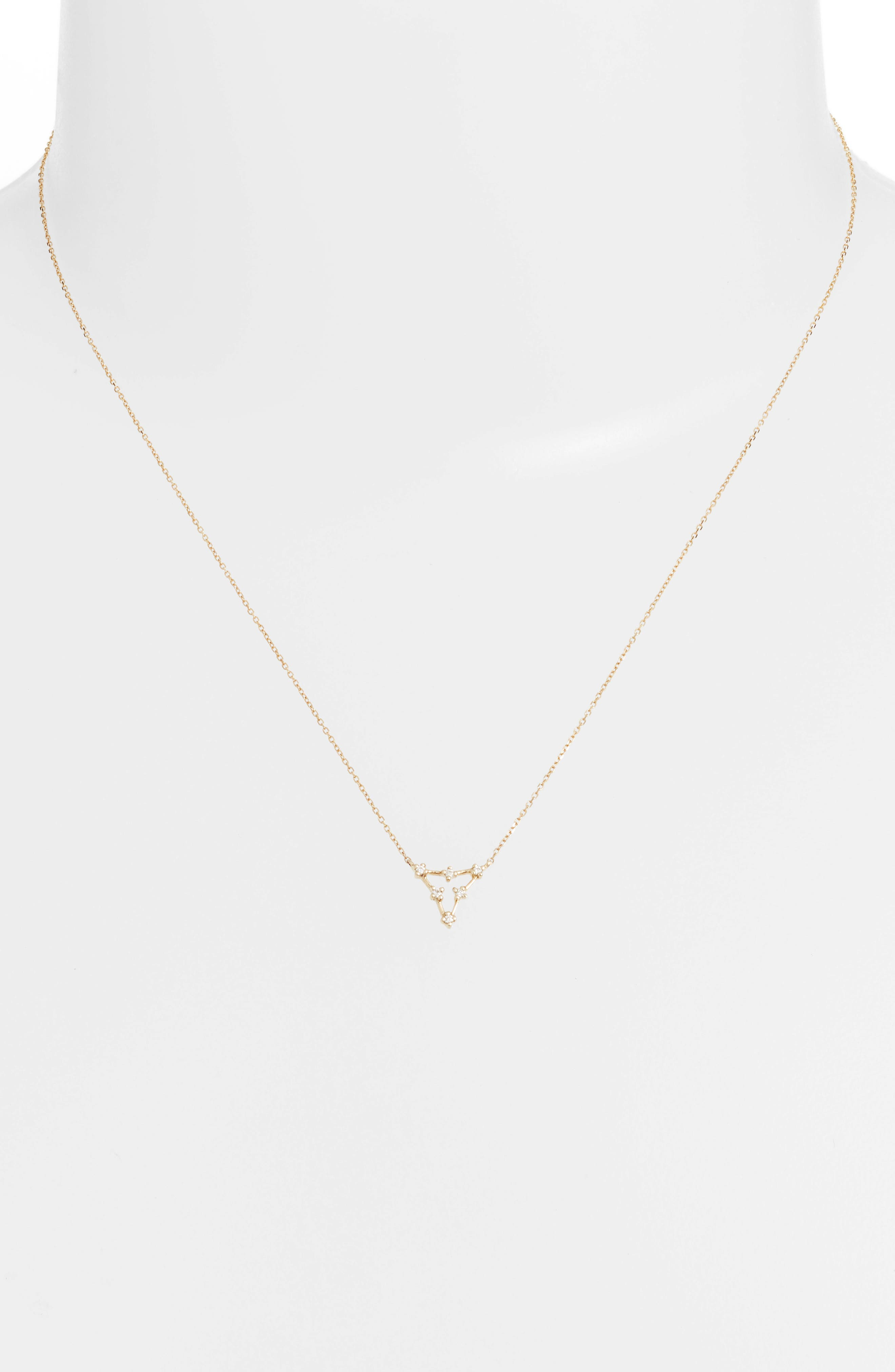 Ava Bea Triangle Necklace,                             Alternate thumbnail 2, color,                             YELLOW GOLD
