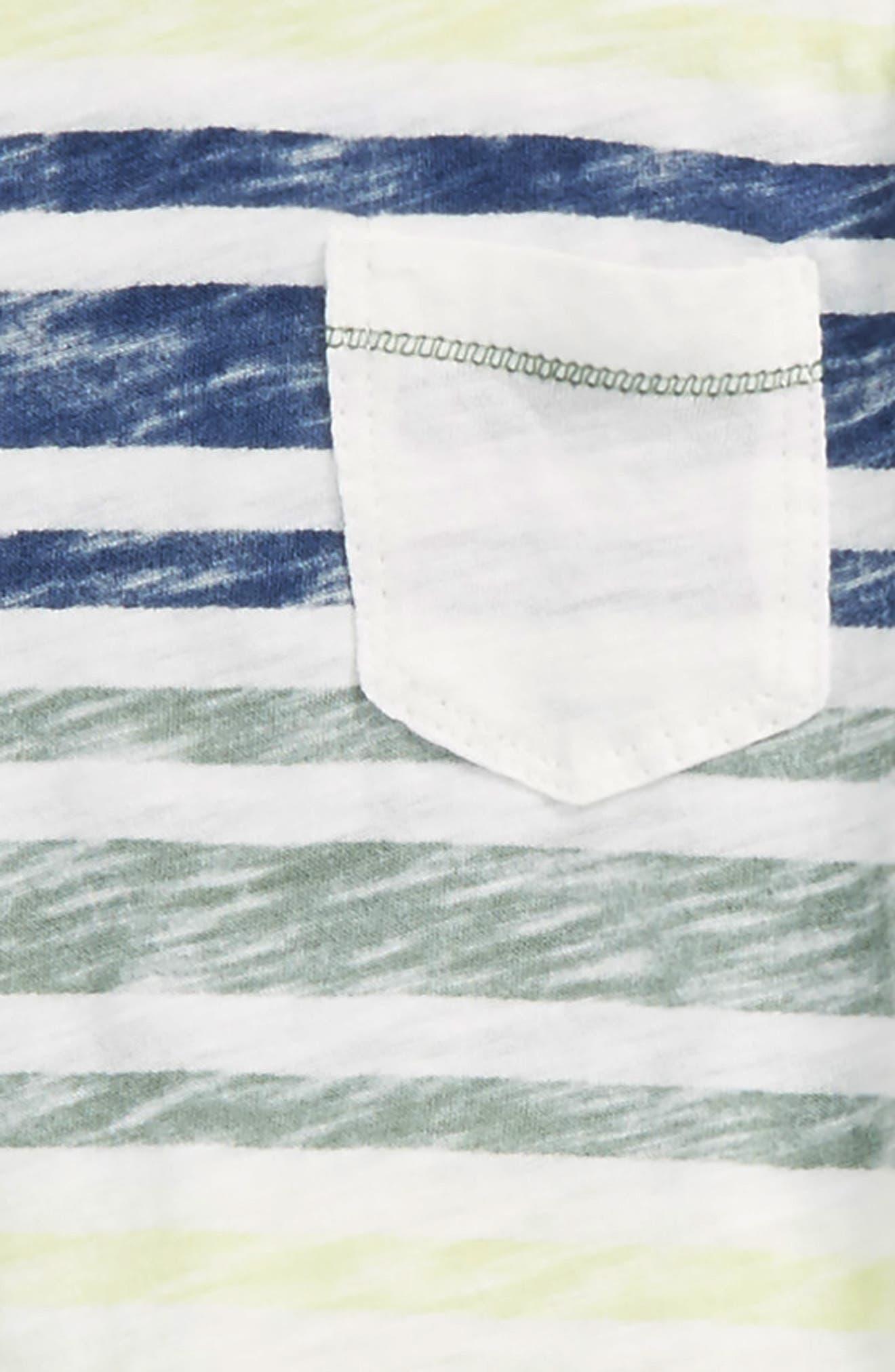 Reverse Stripe Shirt & Knit Shorts Set,                             Alternate thumbnail 2, color,                             100