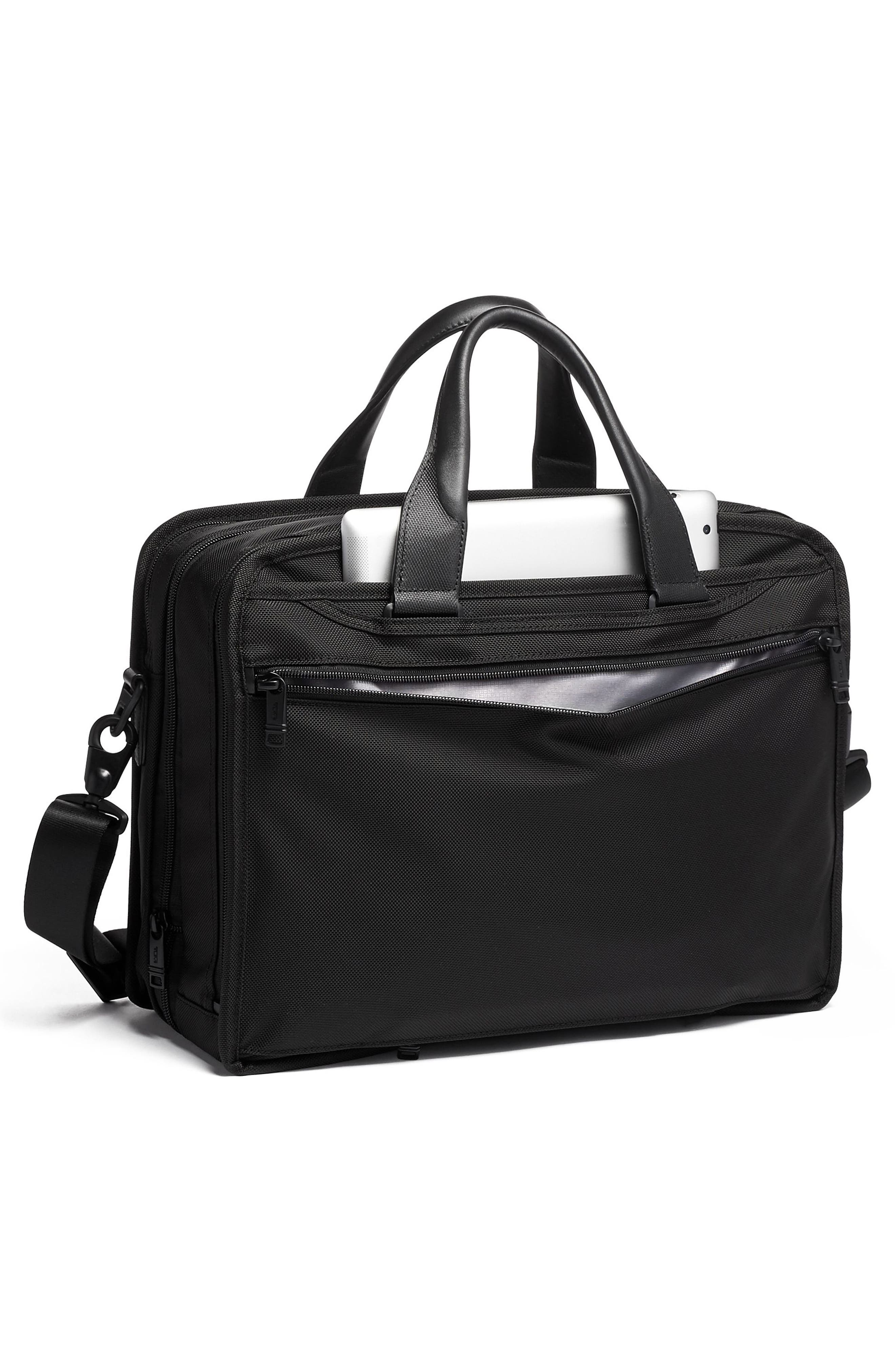 TUMI,                             Alpha 3 T-Pass<sup>®</sup> Expandable Laptop Briefcase,                             Alternate thumbnail 6, color,                             BLACK