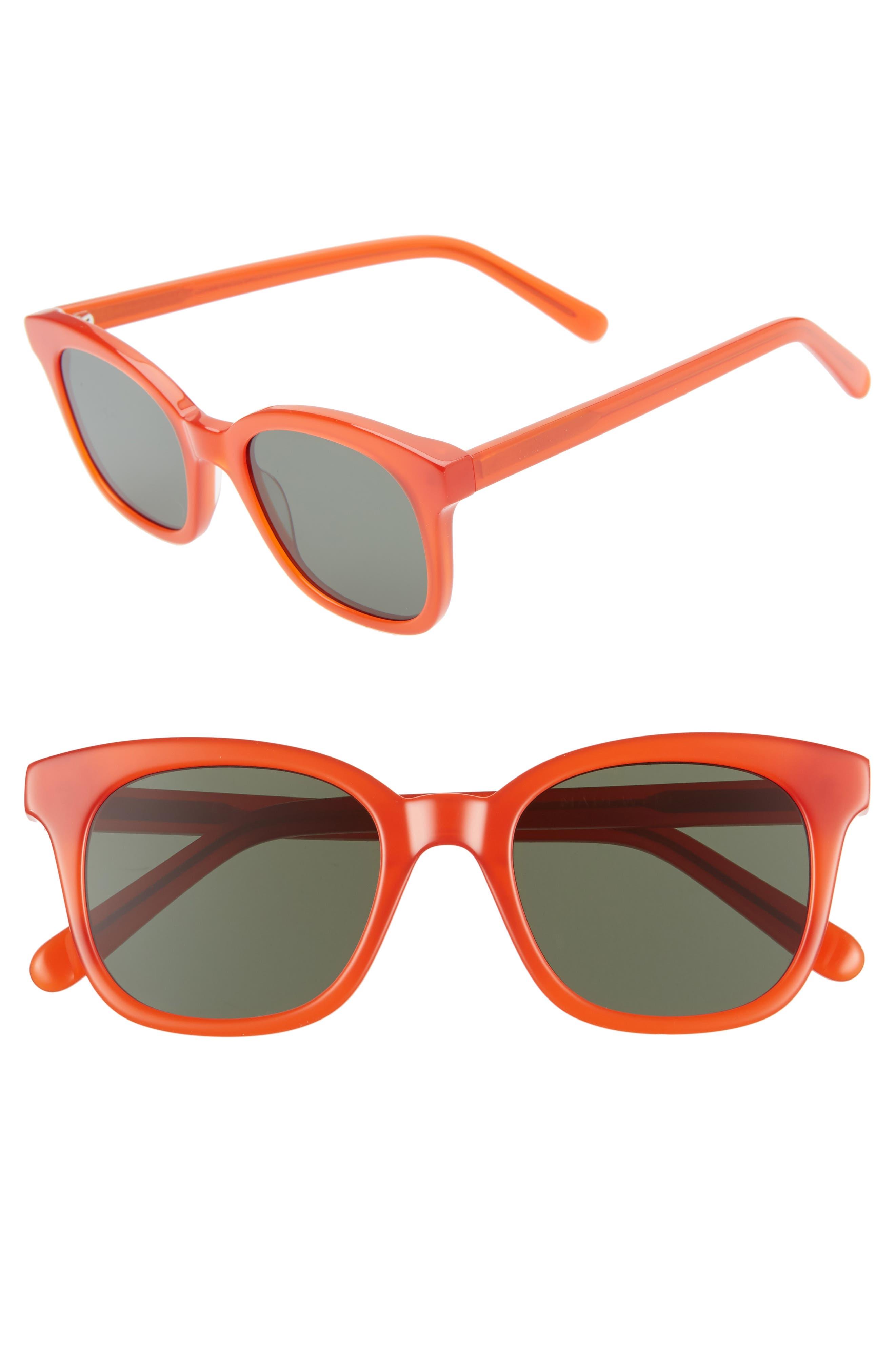 Madewell Venice 4m Flat Frame Sunglasses - American Red Multi