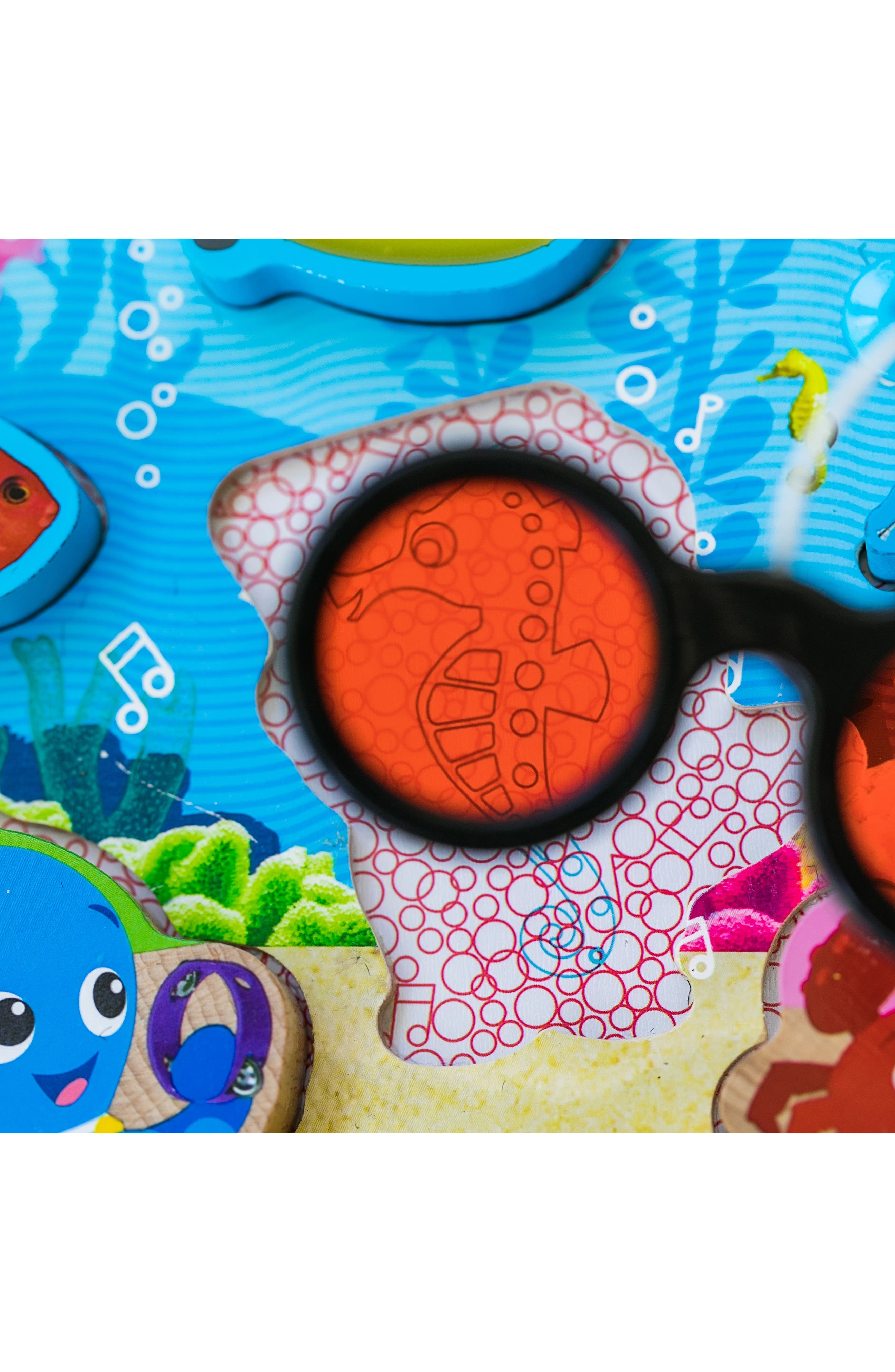Hape Submarine Adventure Wooden Puzzle with Color Reveal Glasses,                             Alternate thumbnail 2, color,                             960