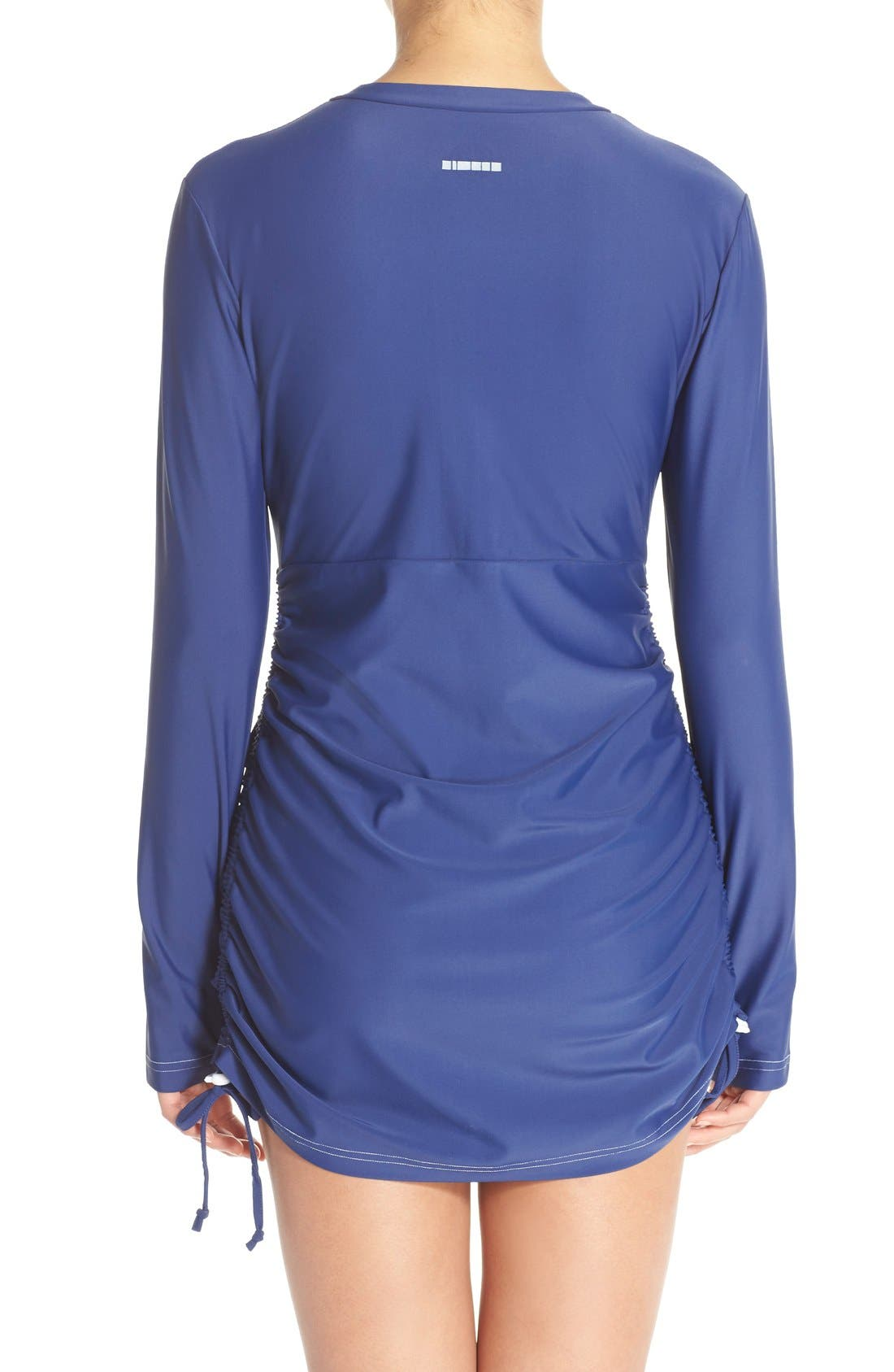 'Sonja' Long Sleeve Half Zip Convertible Swimdress,                             Alternate thumbnail 28, color,