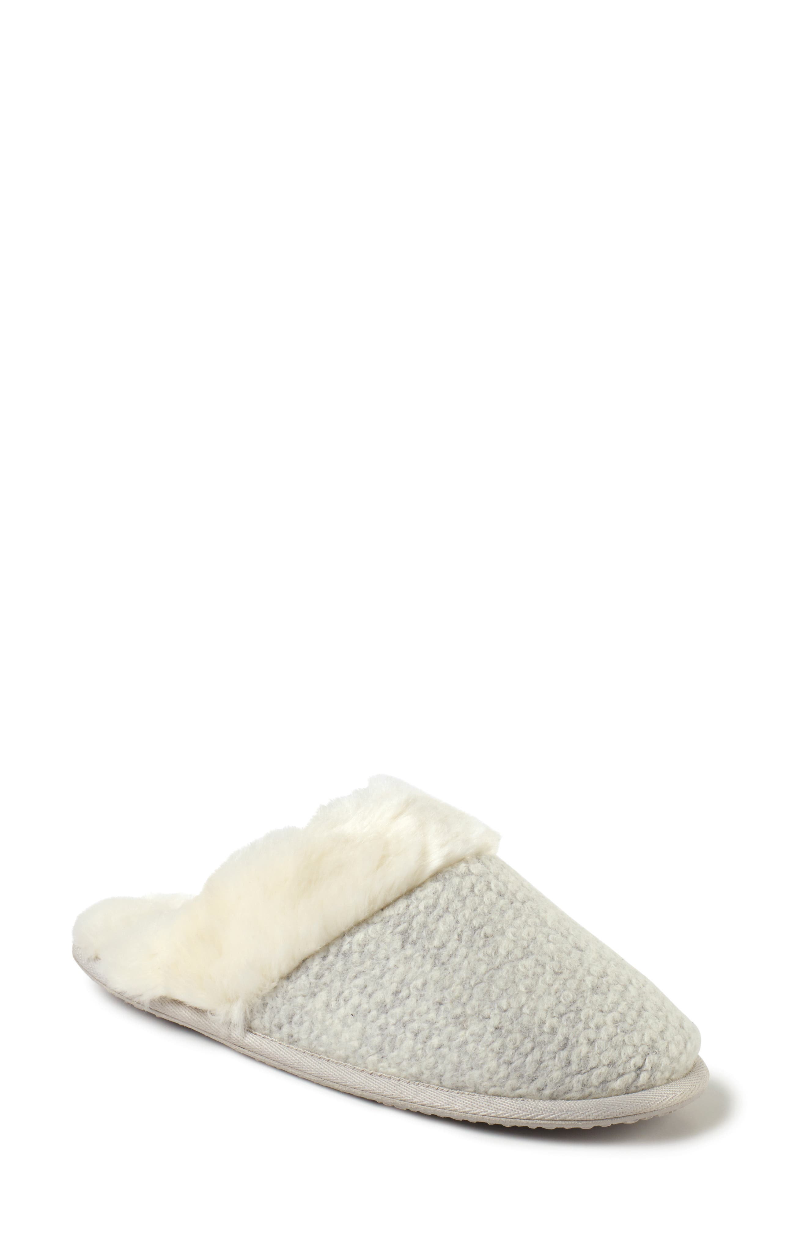 Textured Felt Mule Slipper,                         Main,                         color, CLOUD HEATHER / IVORY